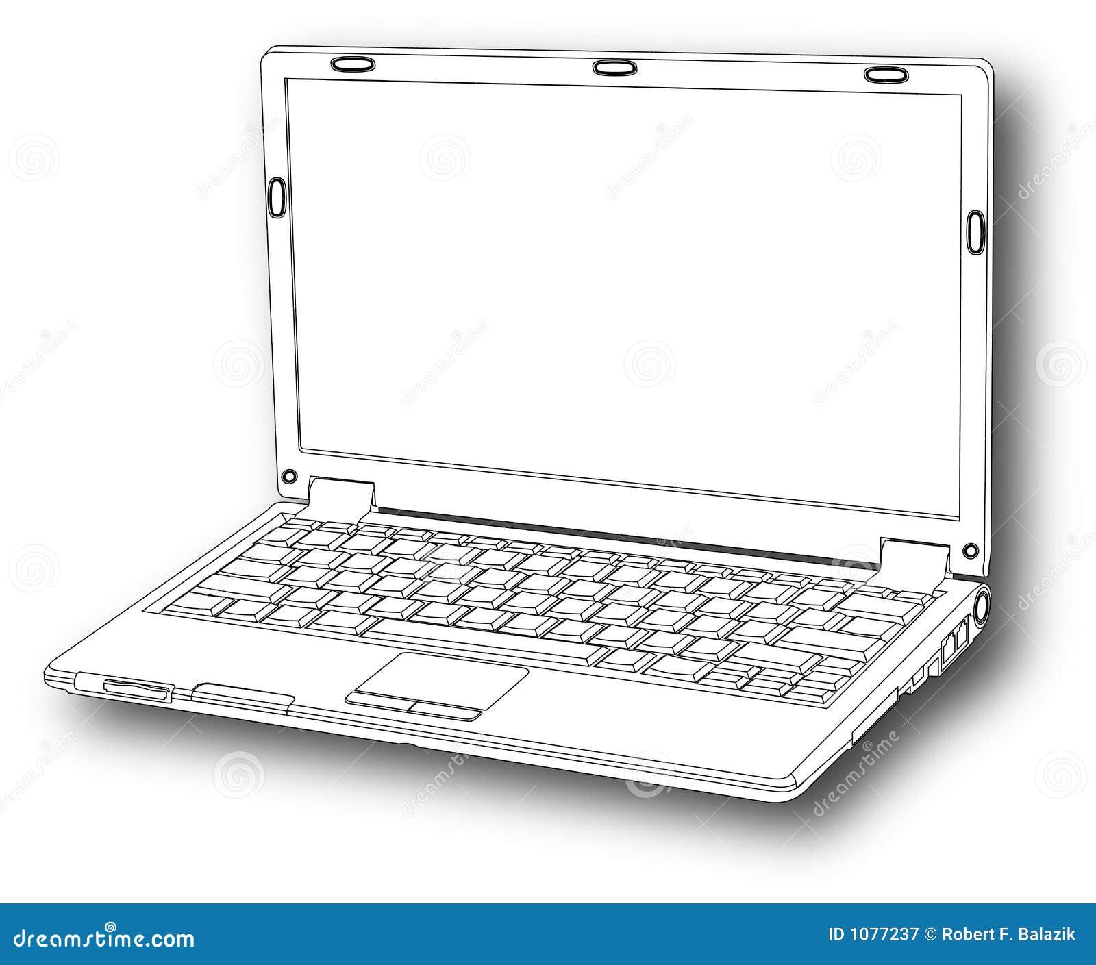 Linia drwg laptopa