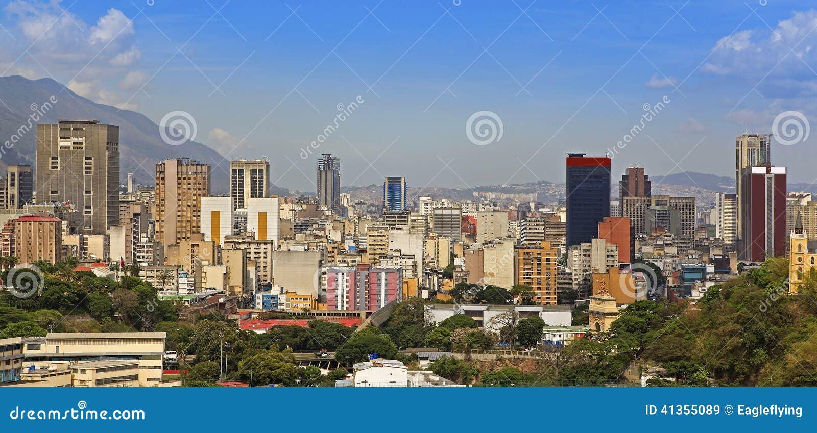 Linia horyzontu Caracas Wenezuela