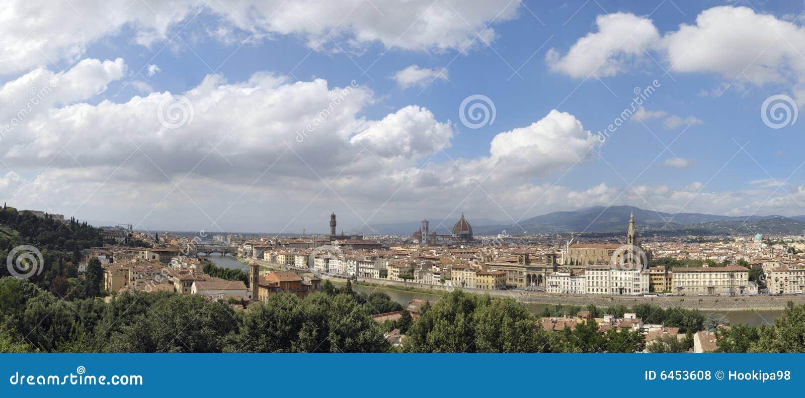 Linia horyzontu florence Włochy