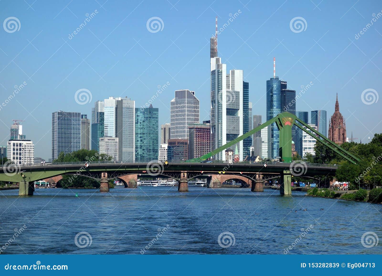 Linia horyzontu Frankfurt magistrala Niemcy, Pieniężny okręg