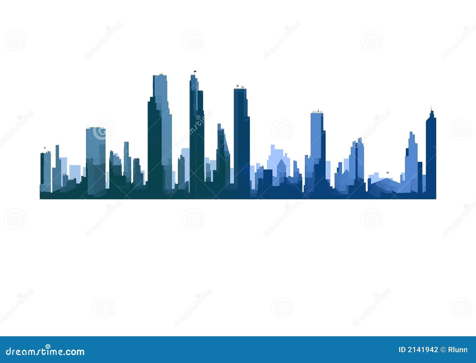 Linia horyzontu miasto.