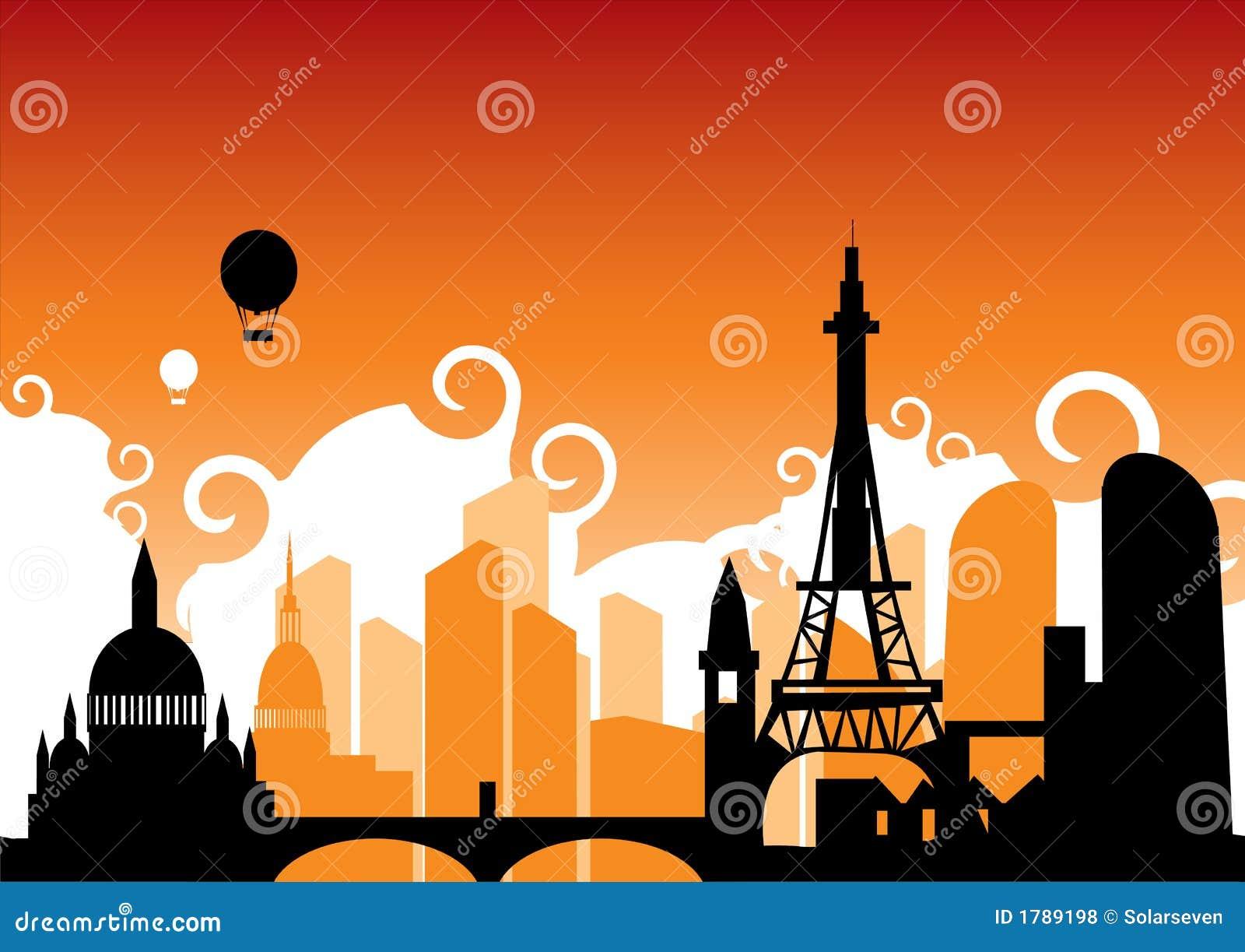 Linia horyzontu paryża