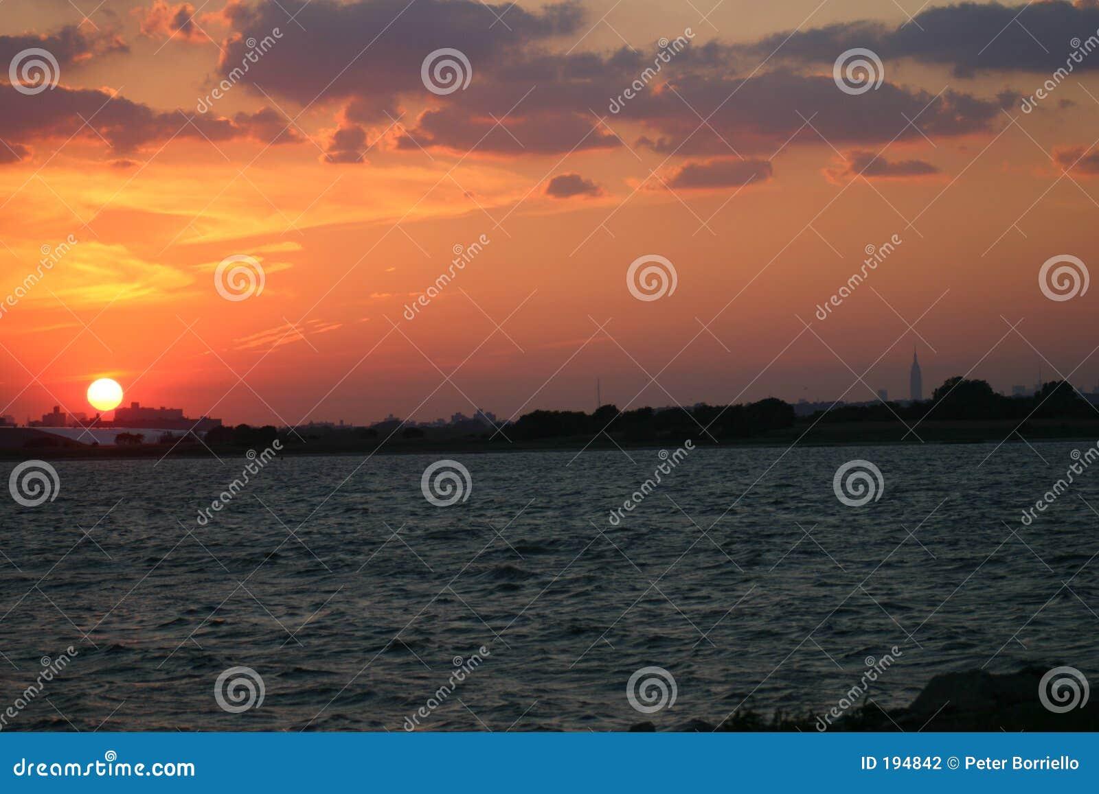 Linia horyzontu słońca