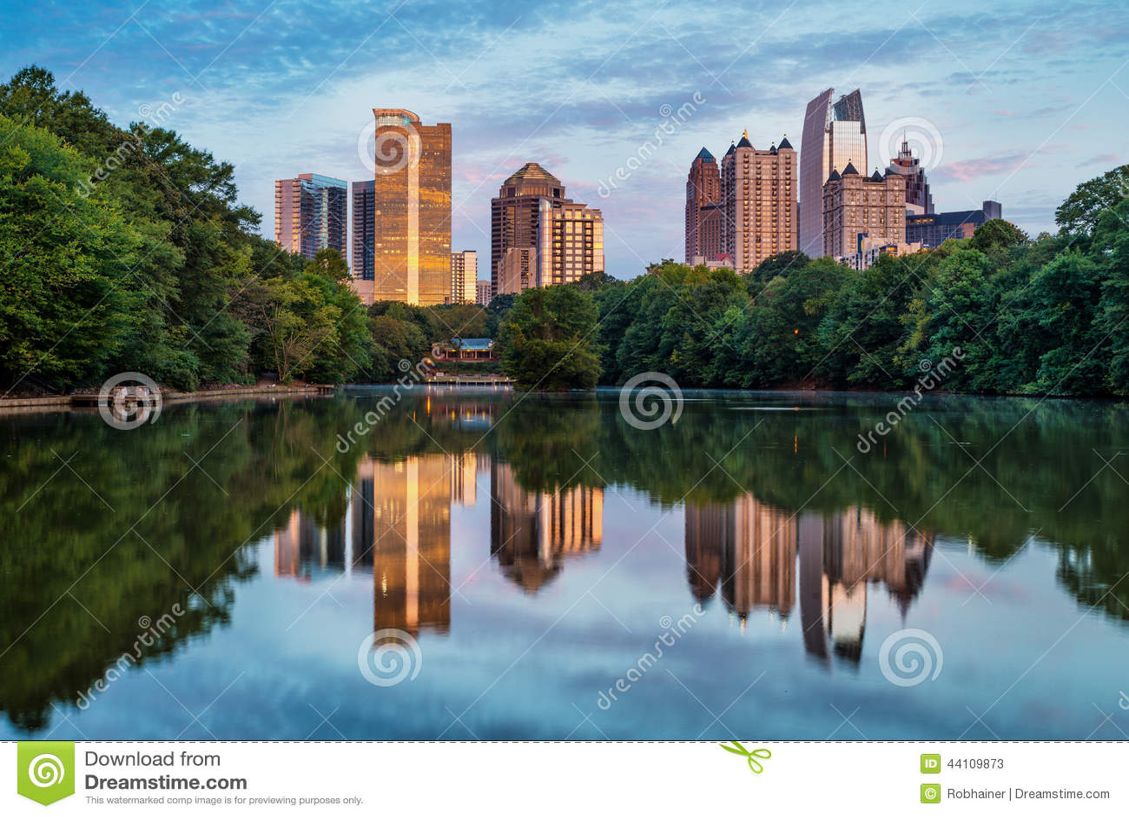 Linia horyzontu w centrum Atlanta, Gruzja