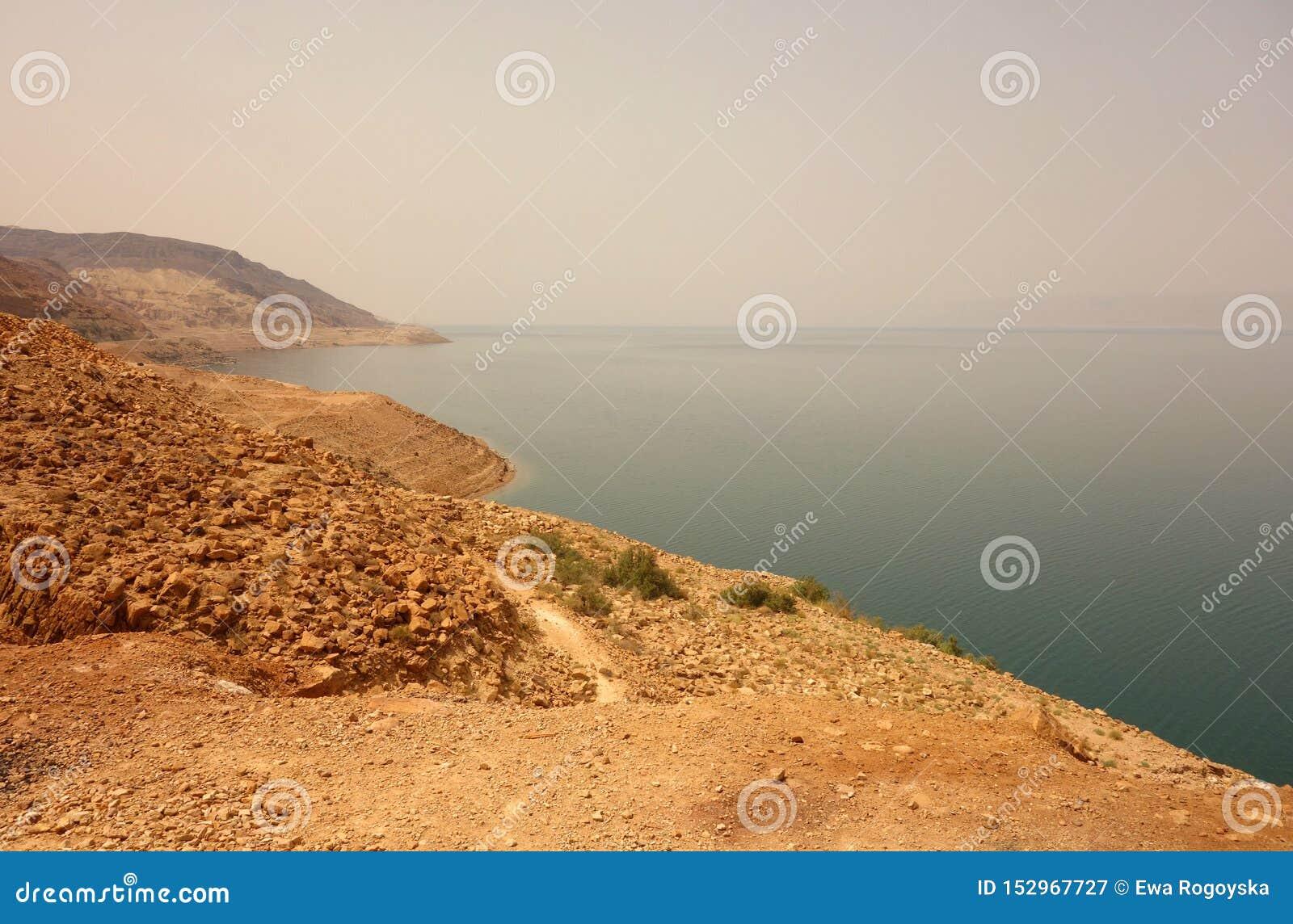 Linii brzegowej Czerwony morze Jordania