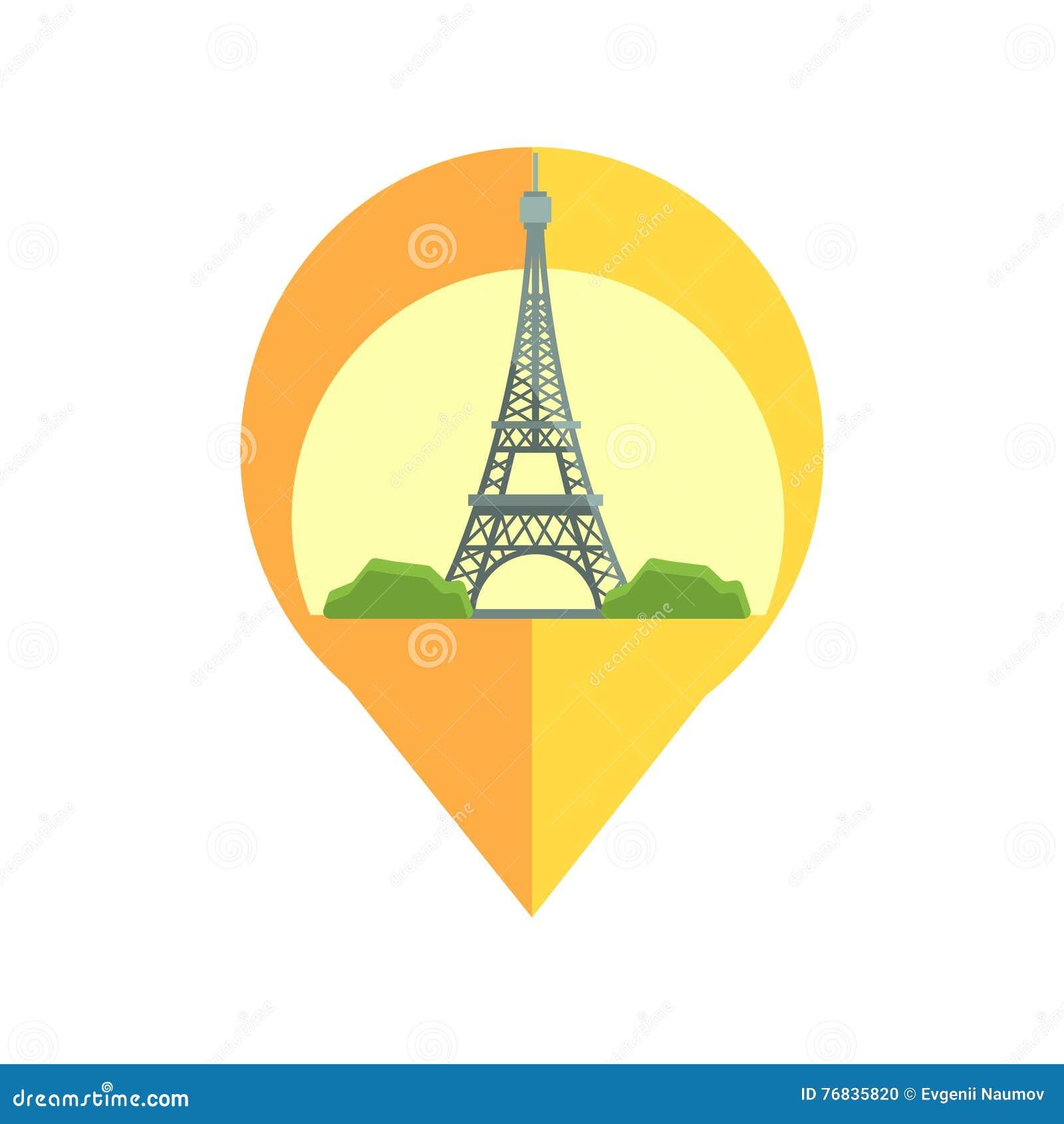 Linii mapy markier Z Eifel wierza