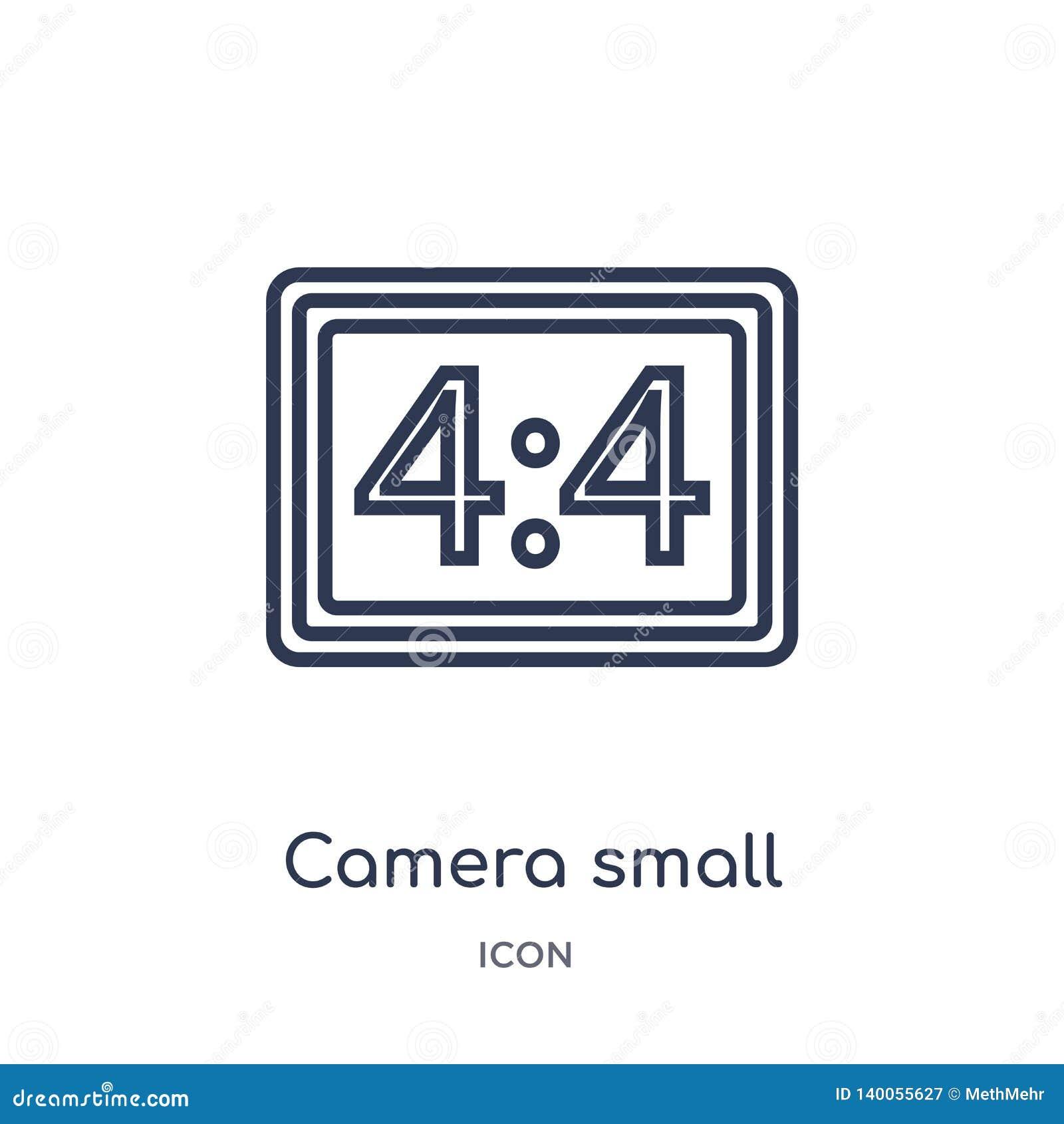 Liniowa kamera małego ekranu rozmiaru ikona od Elektronicznej materiał pełni konturu kolekcji Cienieje kreskowego kamera małego e