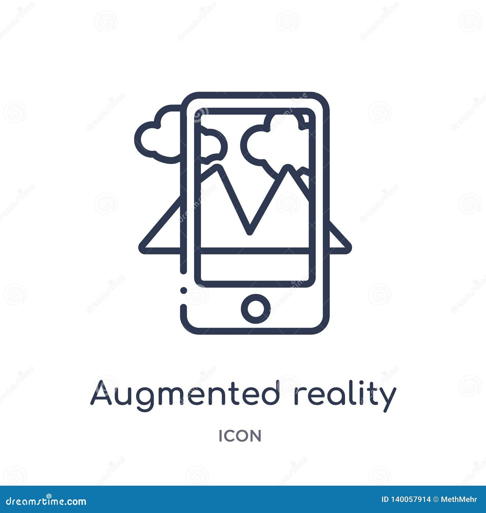 Liniowa zwiększająca rzeczywistości ikona od Przyszłościowej technologia konturu kolekcji Cienieje linia zwiększającą rzeczywisto