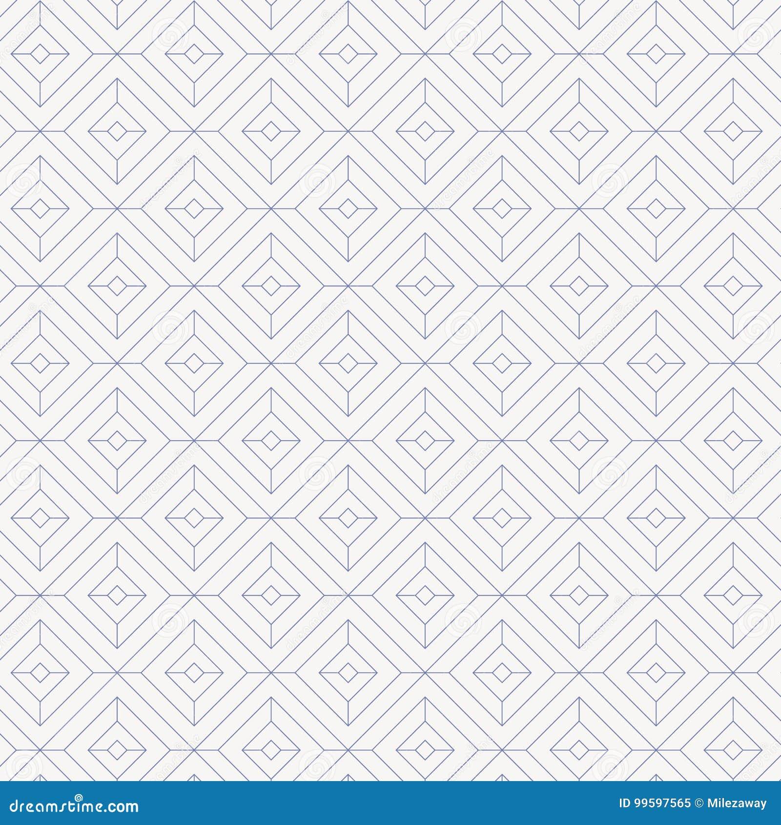 Liniowy wzór, liniowy diamentowy kształt dekoruje z diamentu kwadrata kształtem