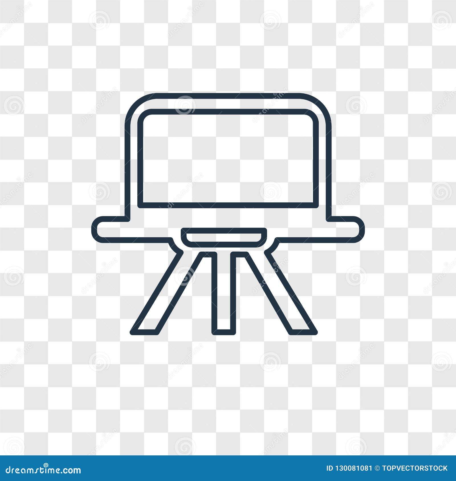 Linjär symbol för Art Board begreppsvektor på genomskinlig bac