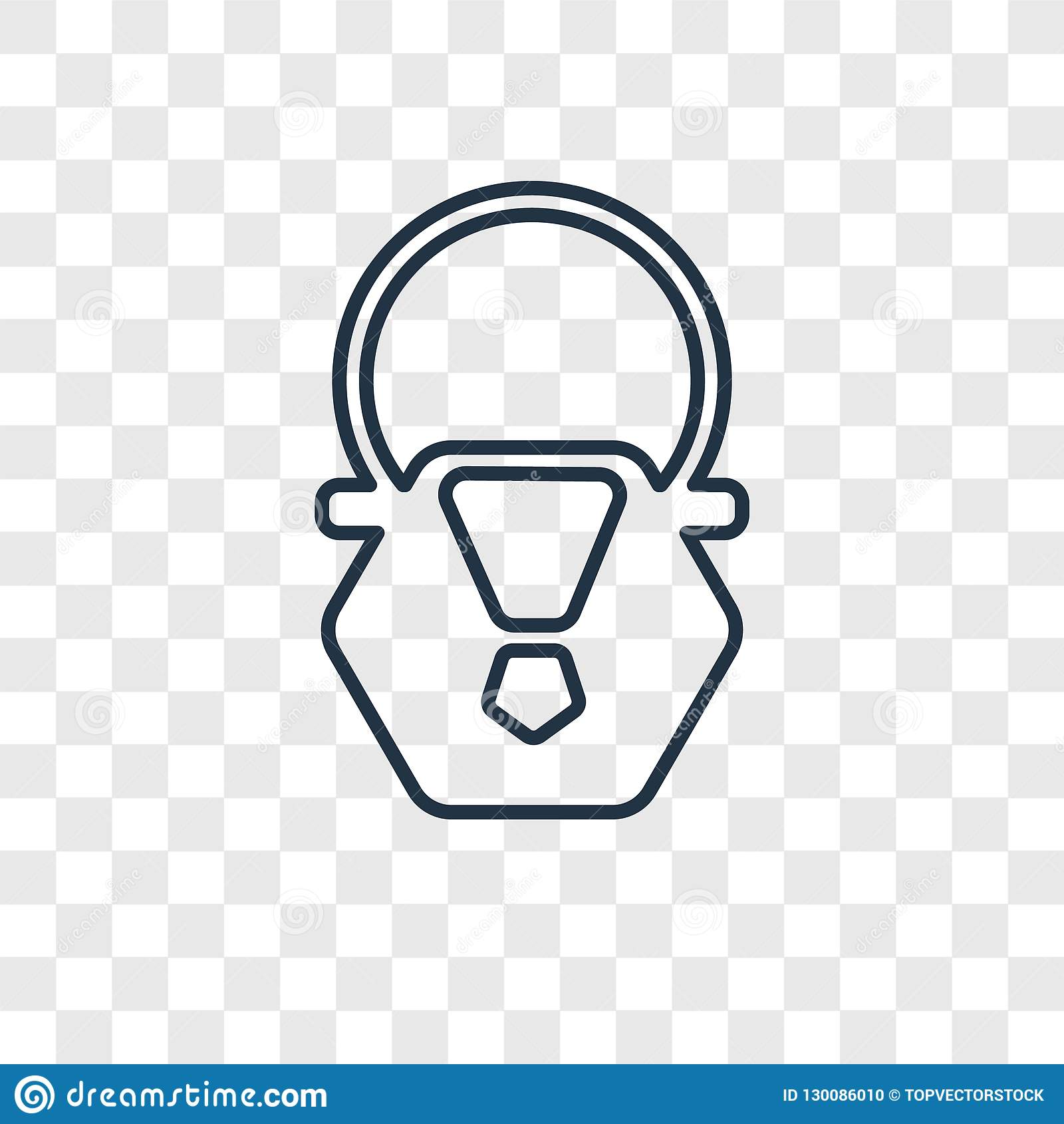 Linjär symbol för handväskabegreppsvektor som isoleras på genomskinlig backg