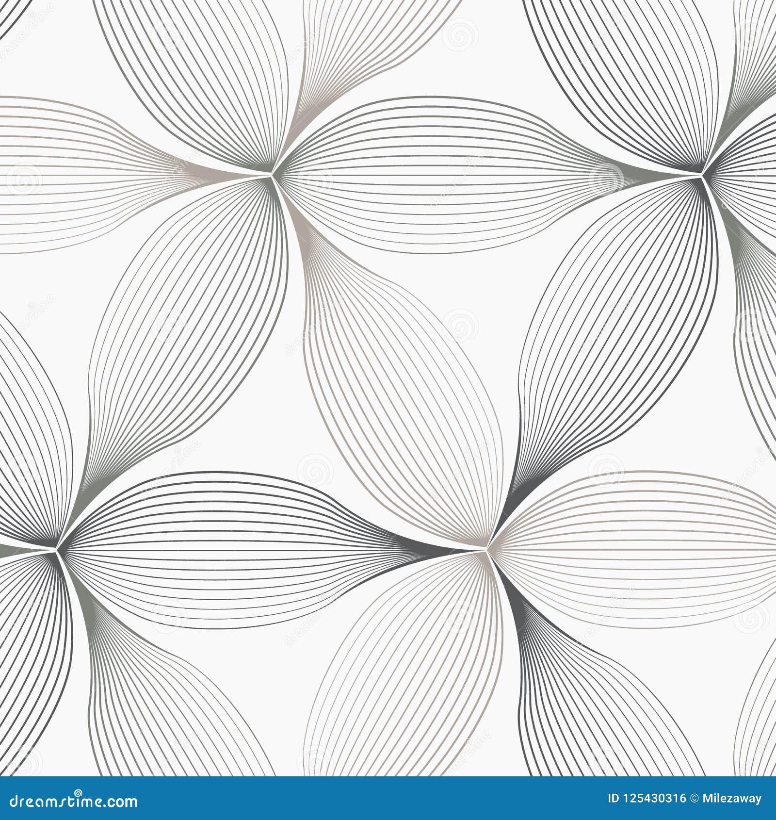 Linjär vektormodell som upprepar abstrakt begrepp ett linjärt blad varje som cirklar på sexhörningsform