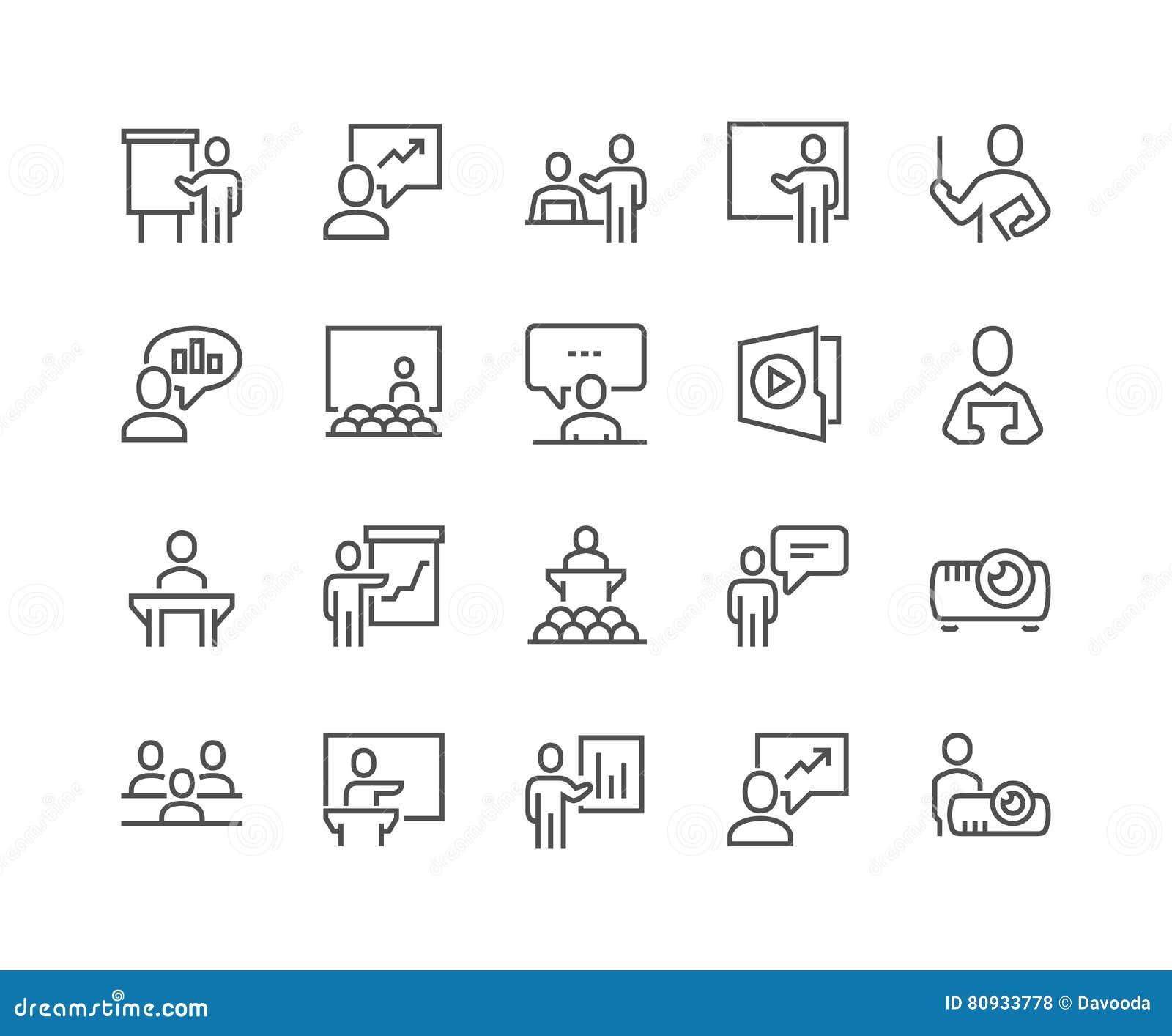 Linje affärspresentationssymboler