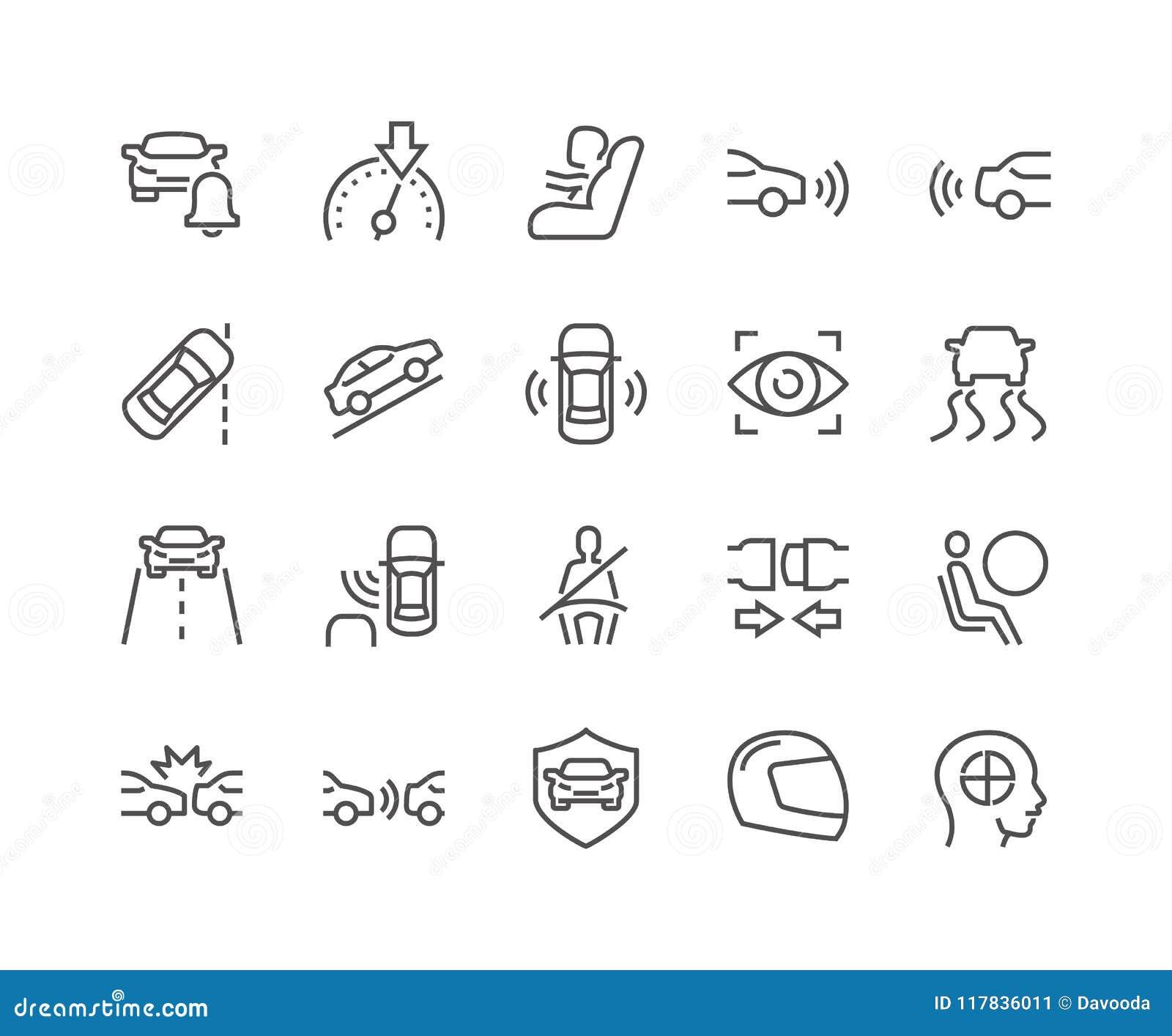 Linje bilsäkerhetssymboler