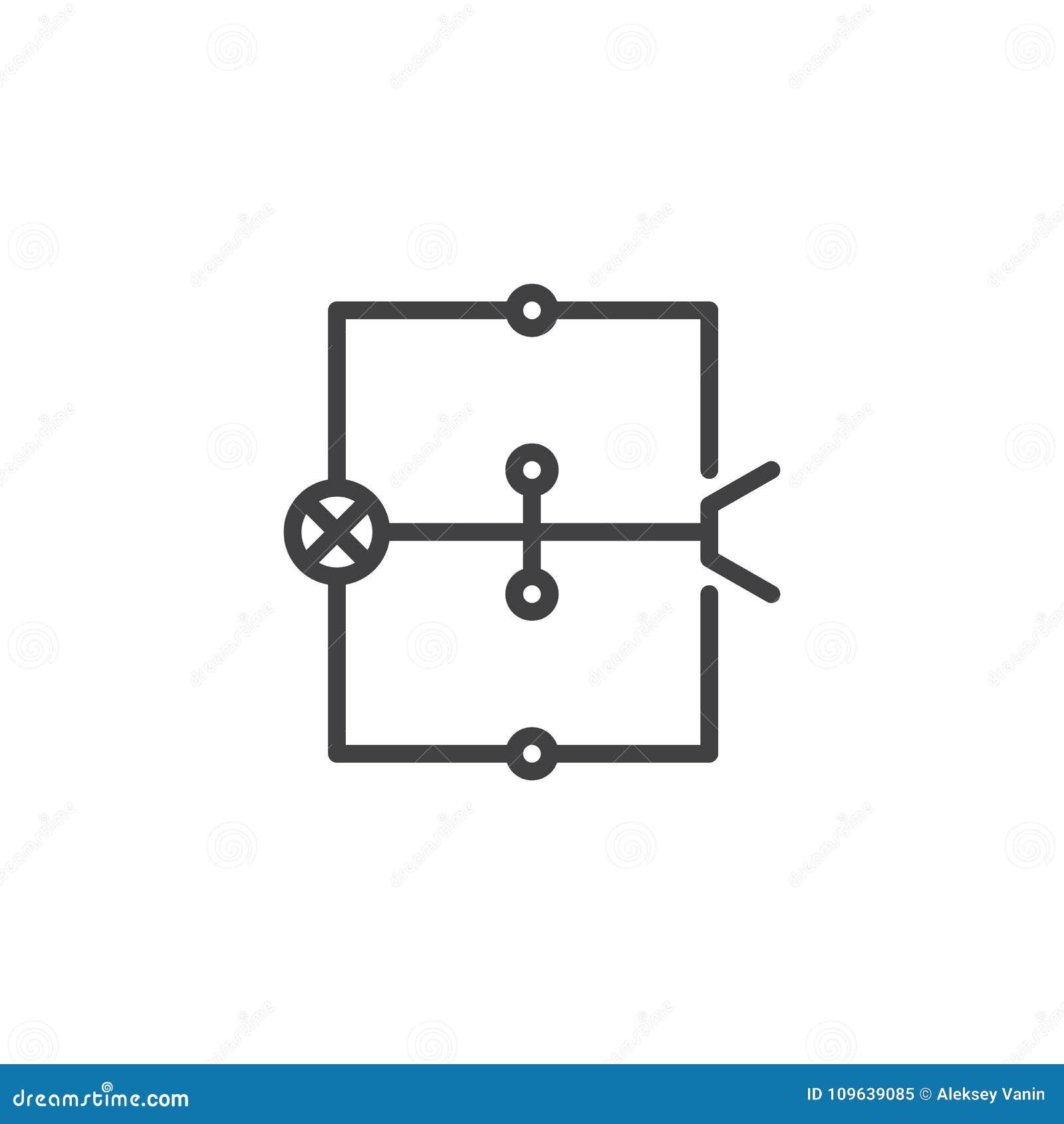 Linje symbol för ledningsnätdiagram