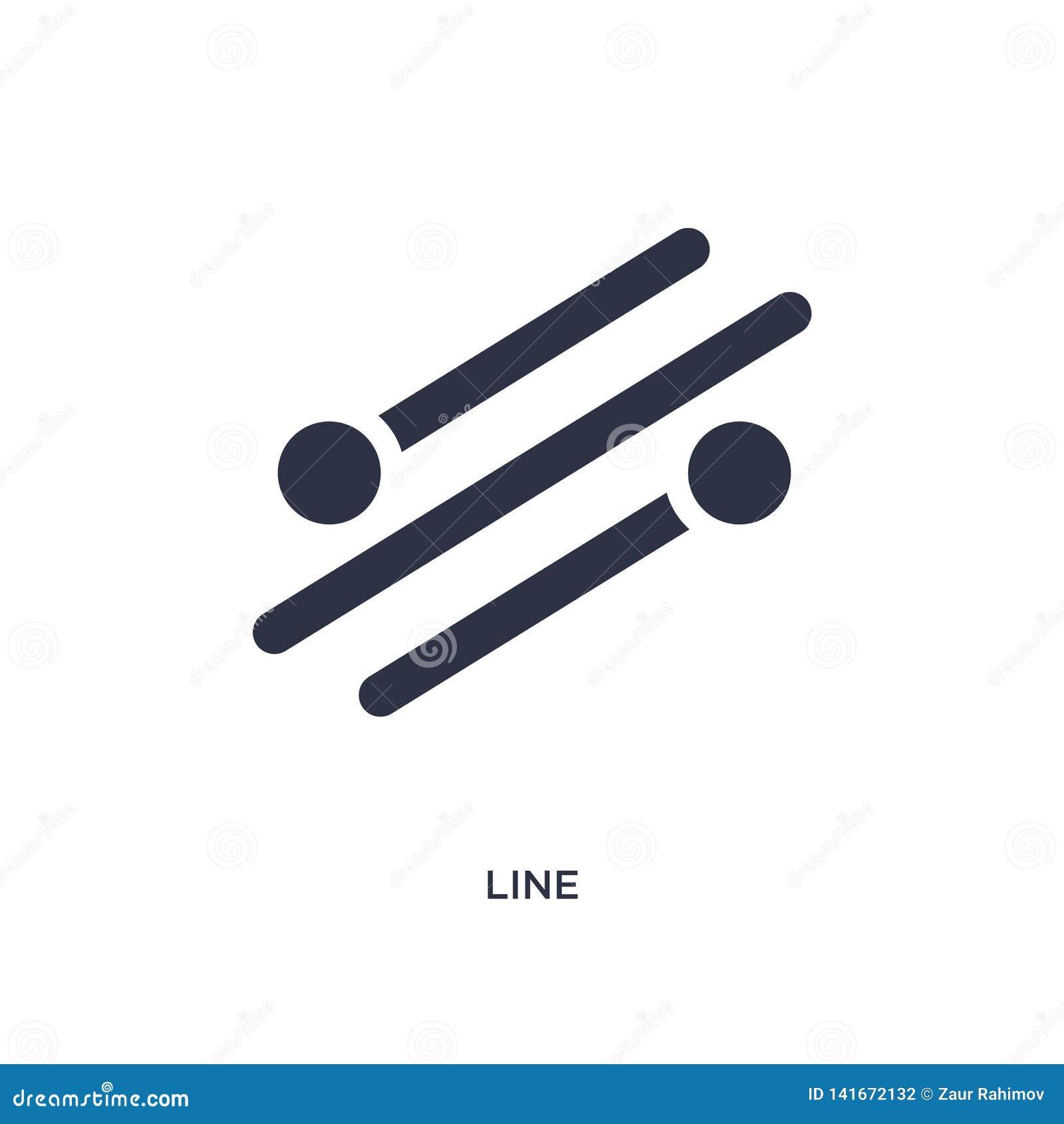 Linje symbol på vit bakgrund Enkel beståndsdelillustration från geometribegrepp