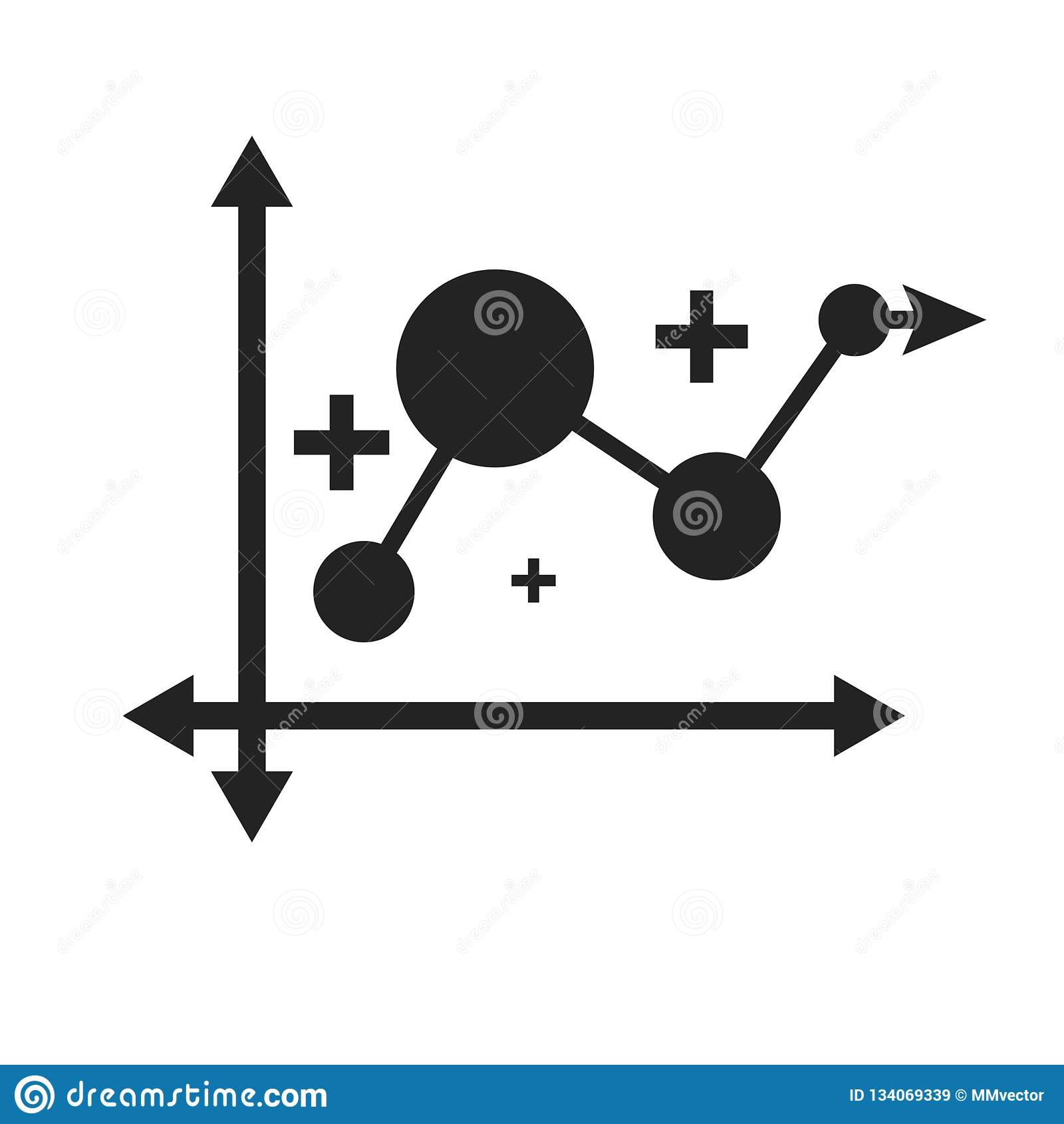 Linje tecken och symbol för diagramsymbolsvektor som isoleras på vit bakgrund, linje diagramlogobegrepp