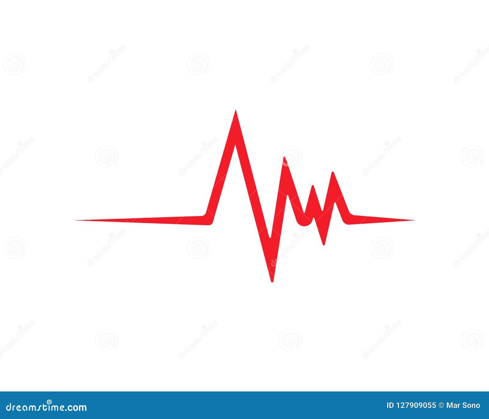 Linje vektormall för hjärtatakt