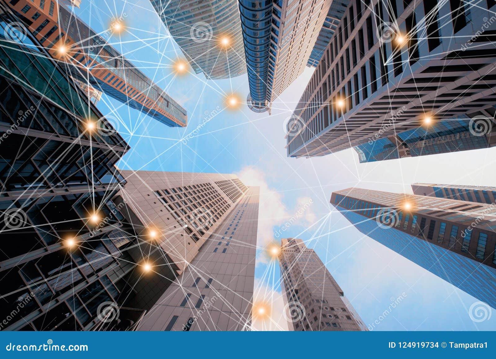 Linjer för anslutning för Digitalt nätverk av arkitekturer, skyskrapabu