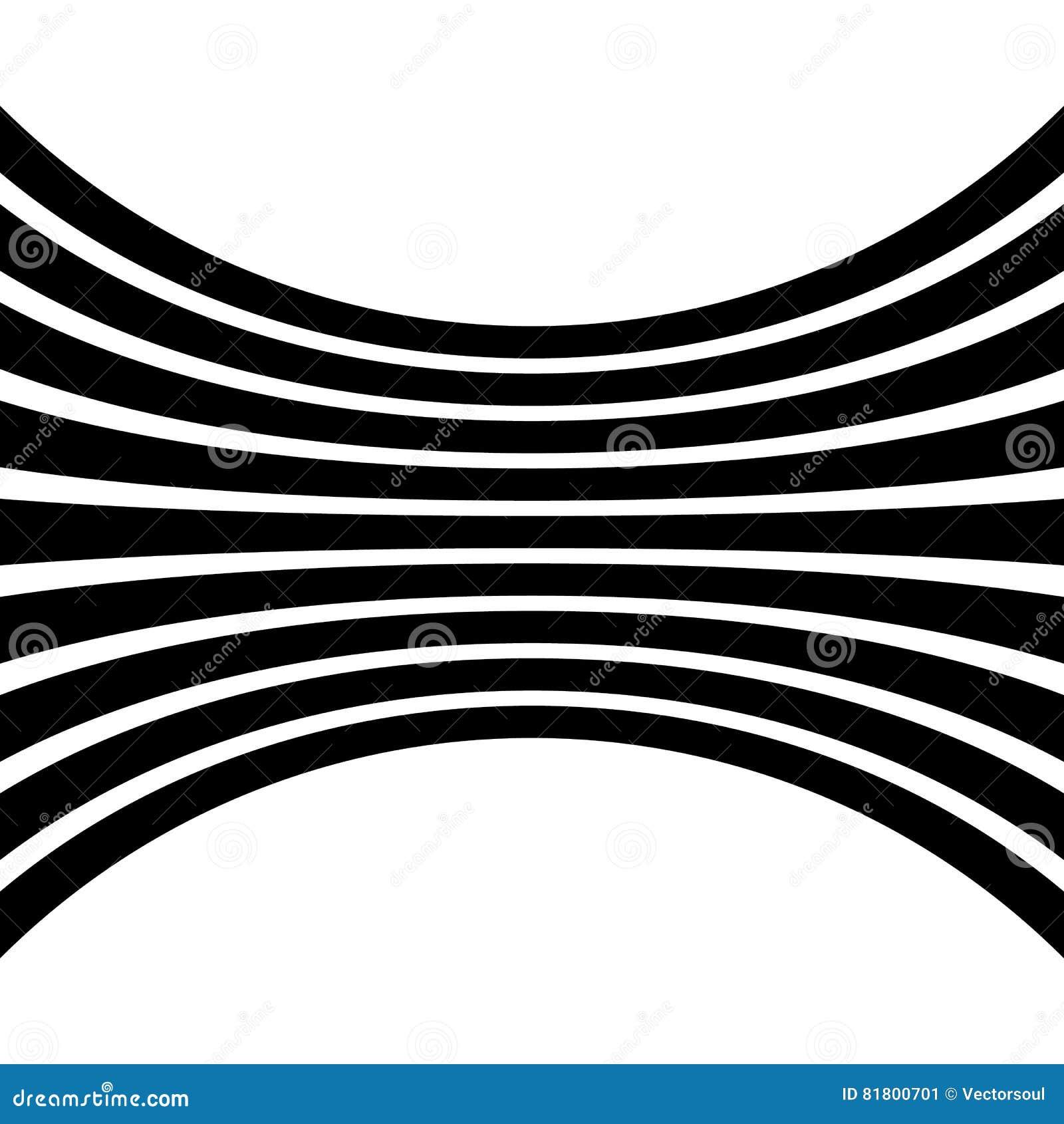 Linjer med distorsion verkställer isolerat på vit bakgrund Geome