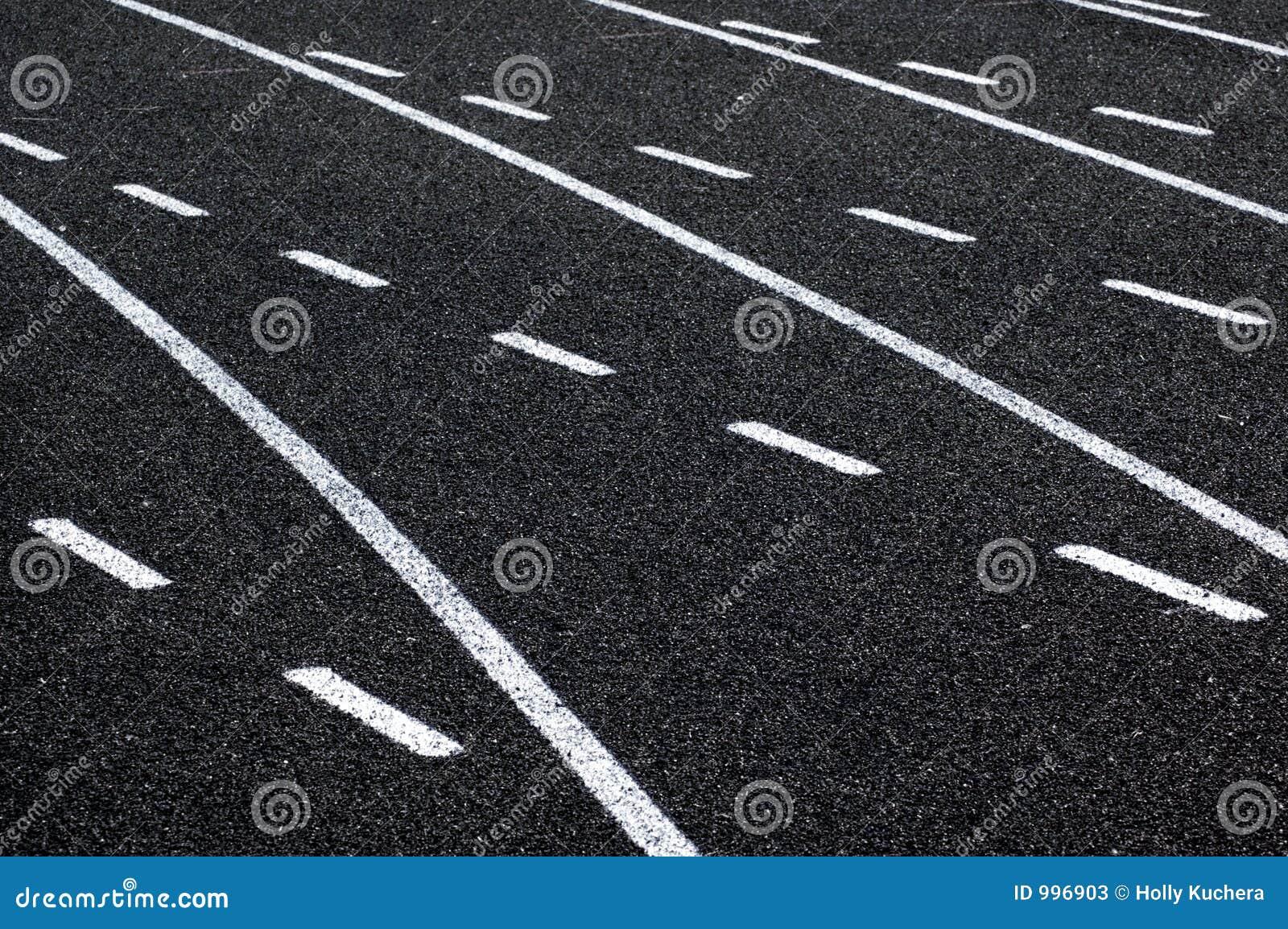 Linjer som kör spåret