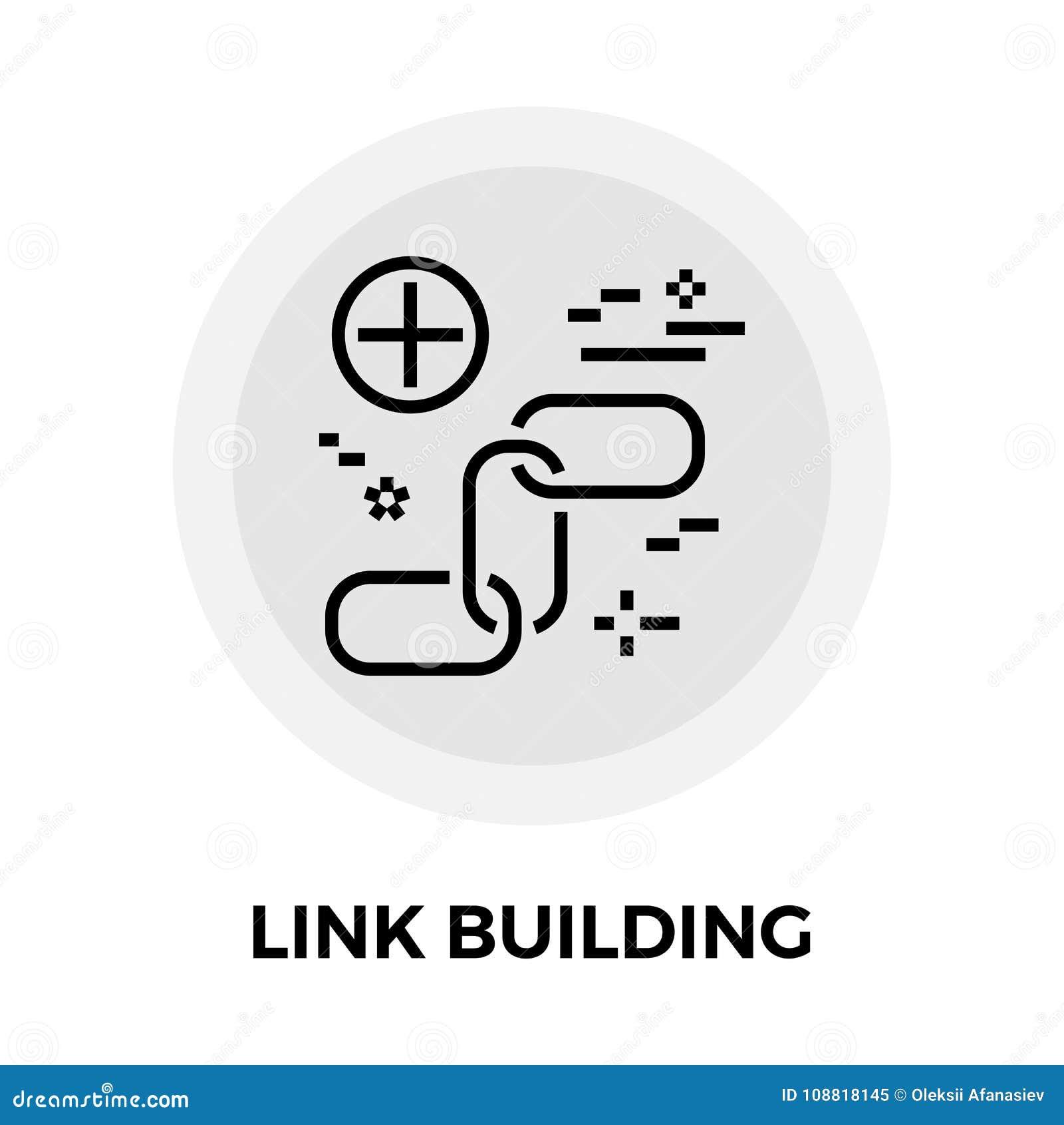 Link Building Line Icon
