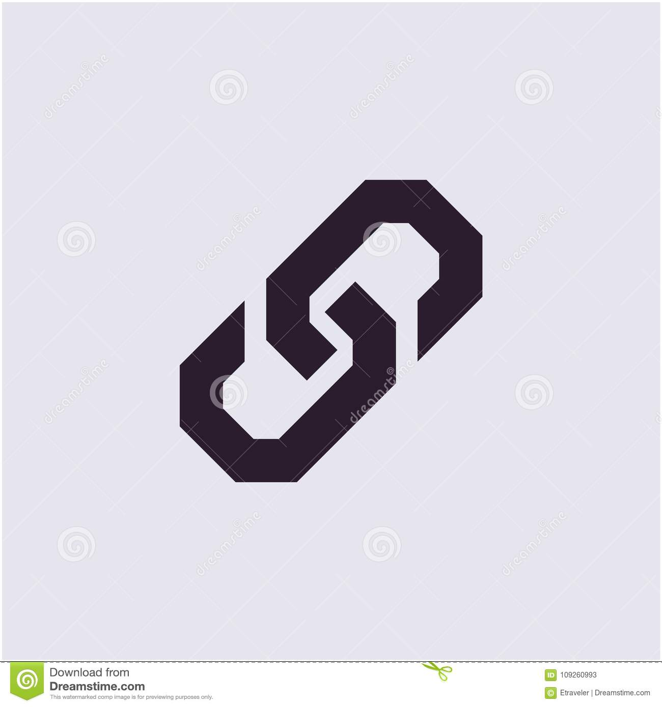 Link Icon Chain Icon Stock Vector Illustration Of Concept 109260993