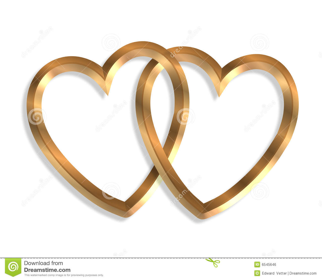 ... Gold Hearts 3D Graphic Royalty Free Stock Image - Image: 6545646