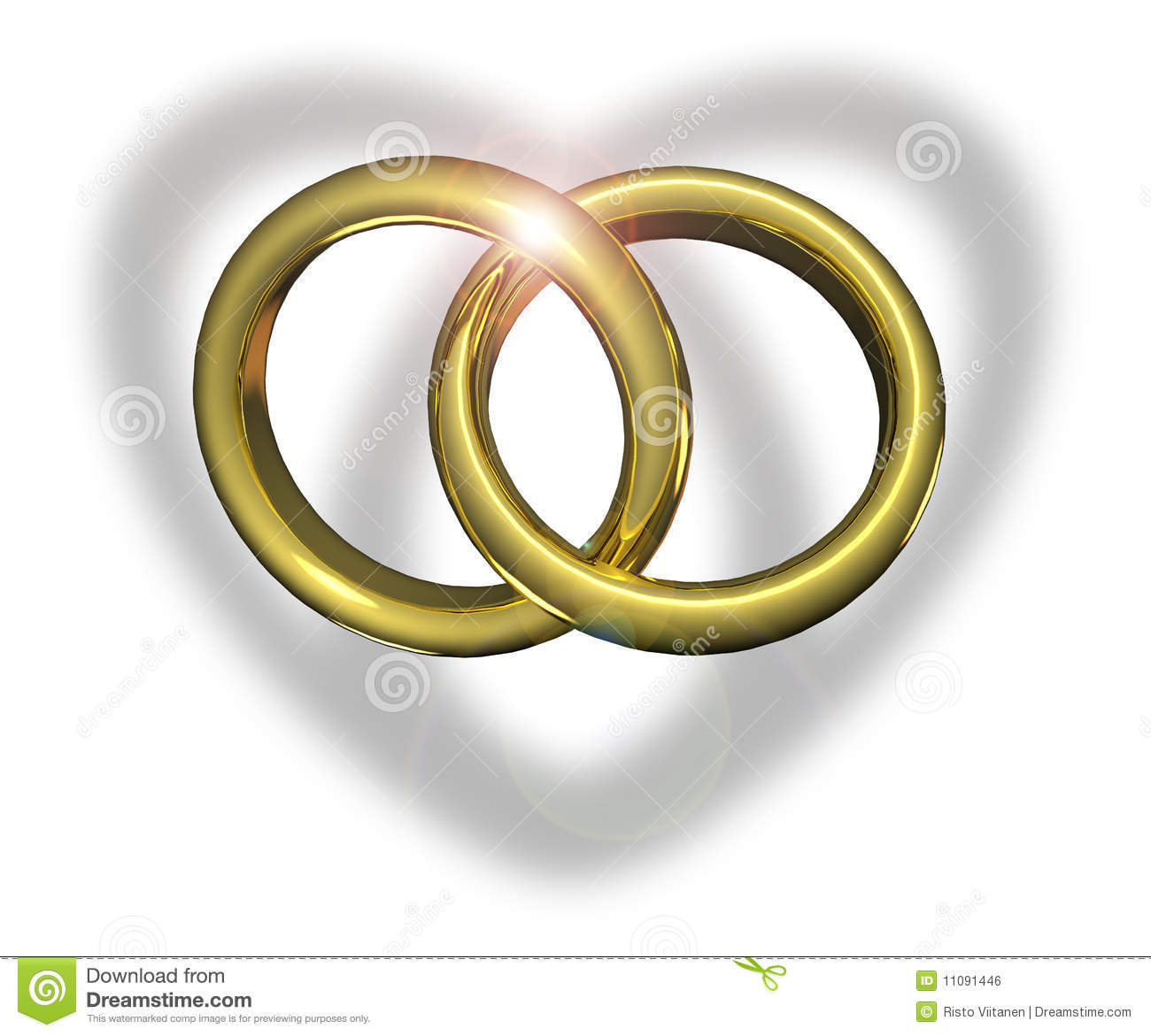 Linked Wedding Rings Stock Illustrations 107 Linked Wedding Rings