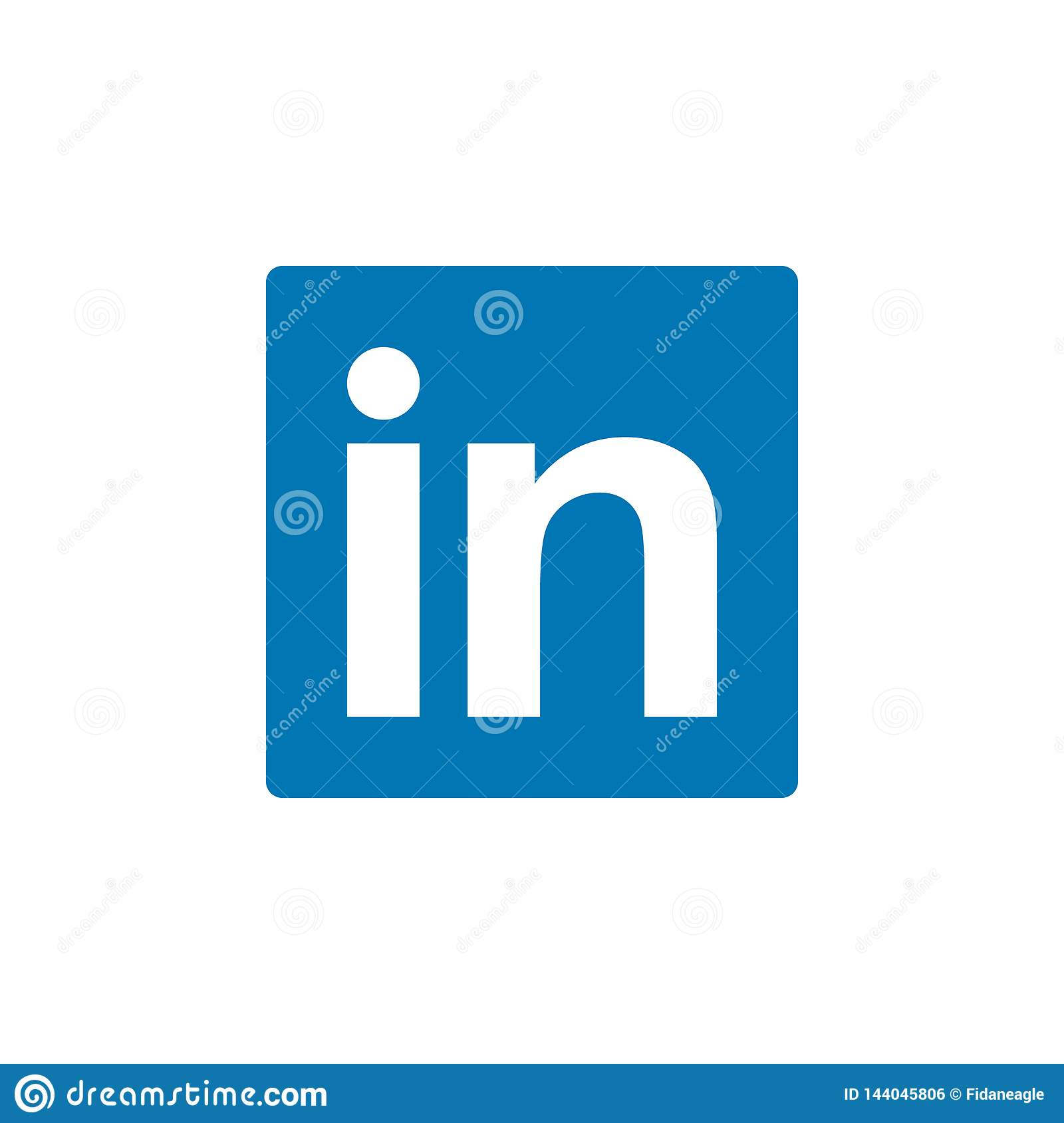 Linkedin colored icon. Element of Social Media Logos illustration icon. Signs and symbols can be used for web, logo, mobile app,