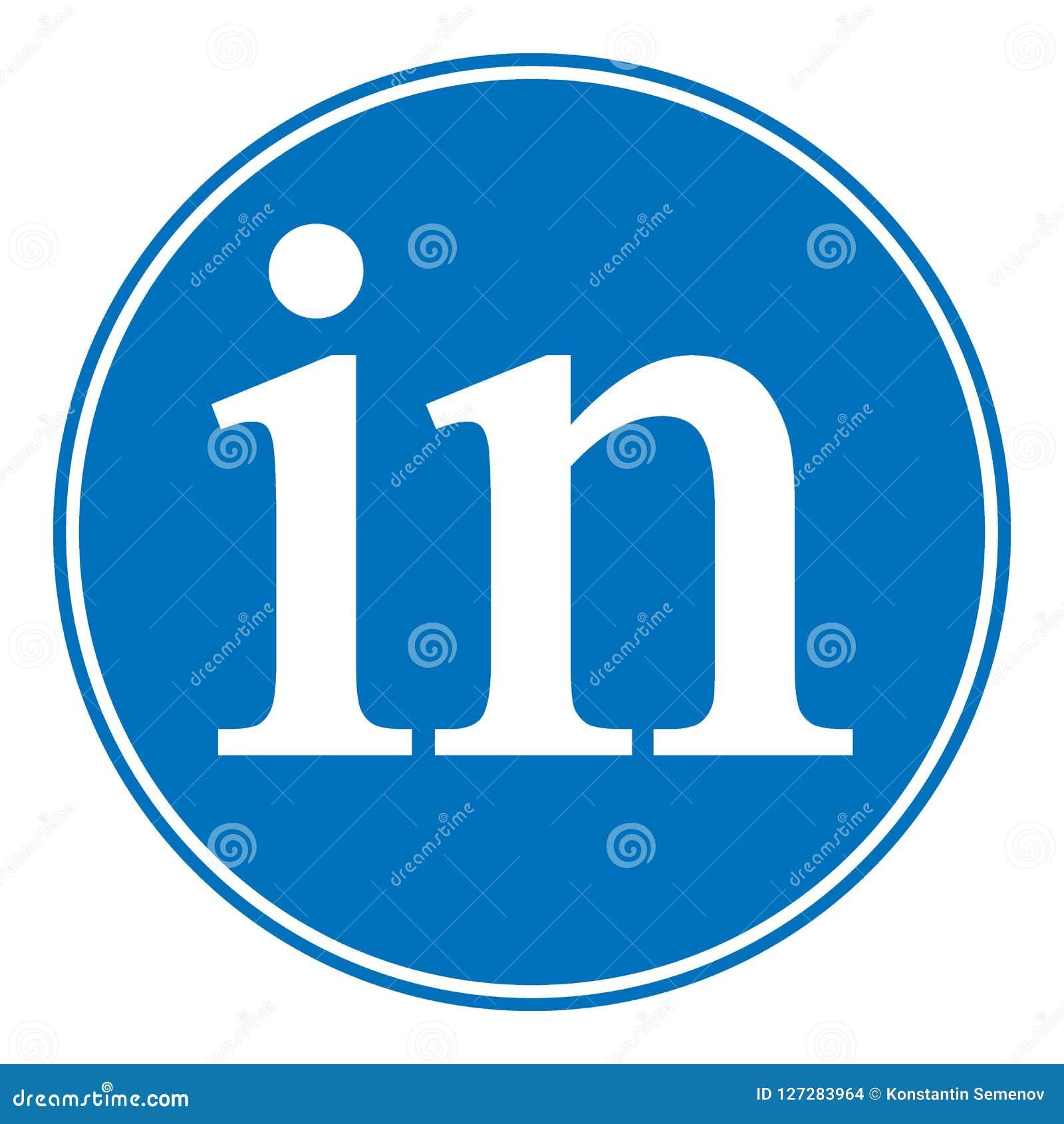 Linkedin Icon On White Stock Illustration Illustration Of Linkedin
