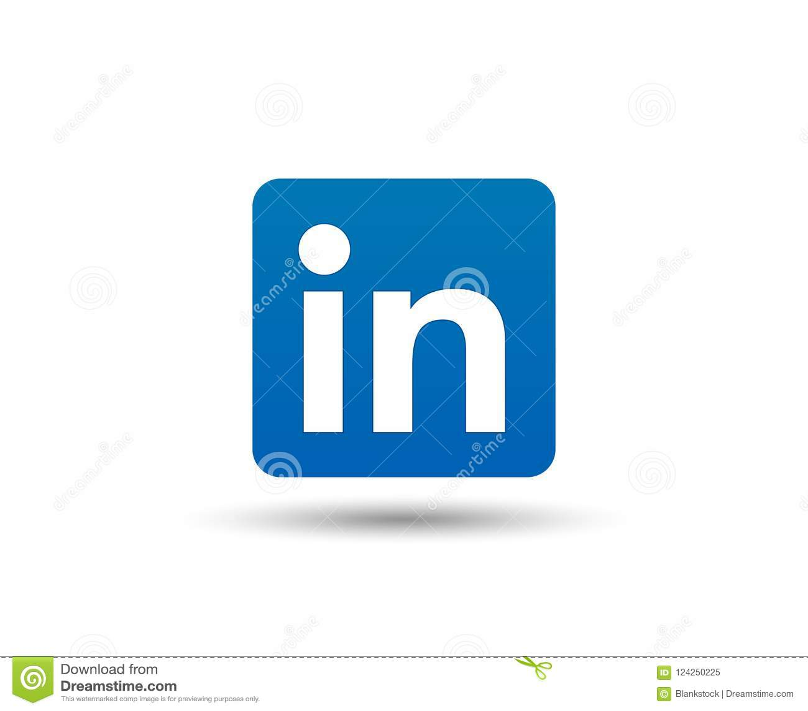 Linkedin Logo Icon Social Media Symbol Business Contacts Vector