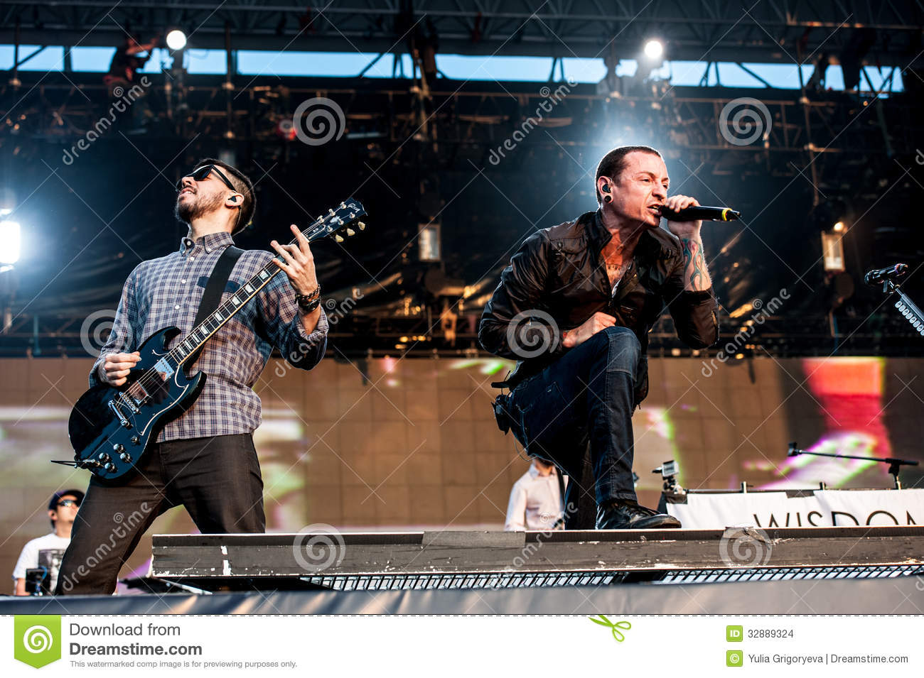Linkin Park concert editorial stock image  Image of live - 32889324