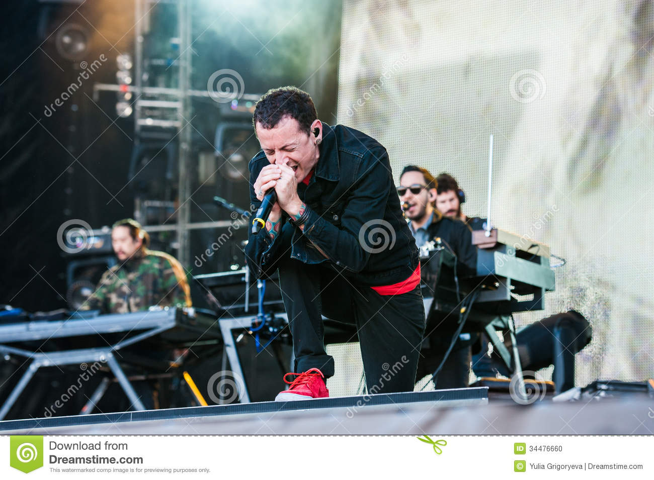 Linkin Park concert editorial image  Image of festival - 34476660