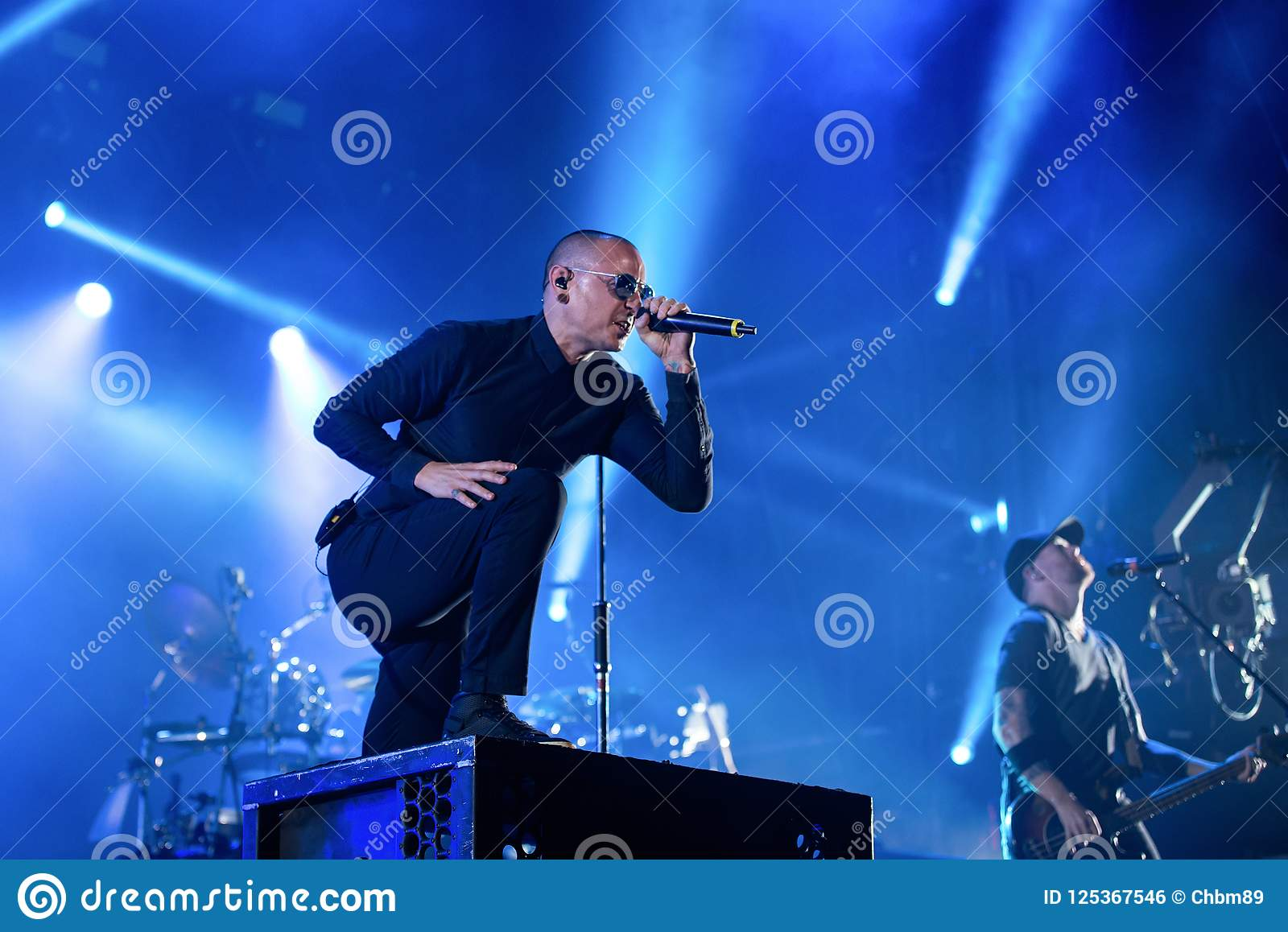 Linkin Park Music Band Perform In Concert At Download Heavy Metal