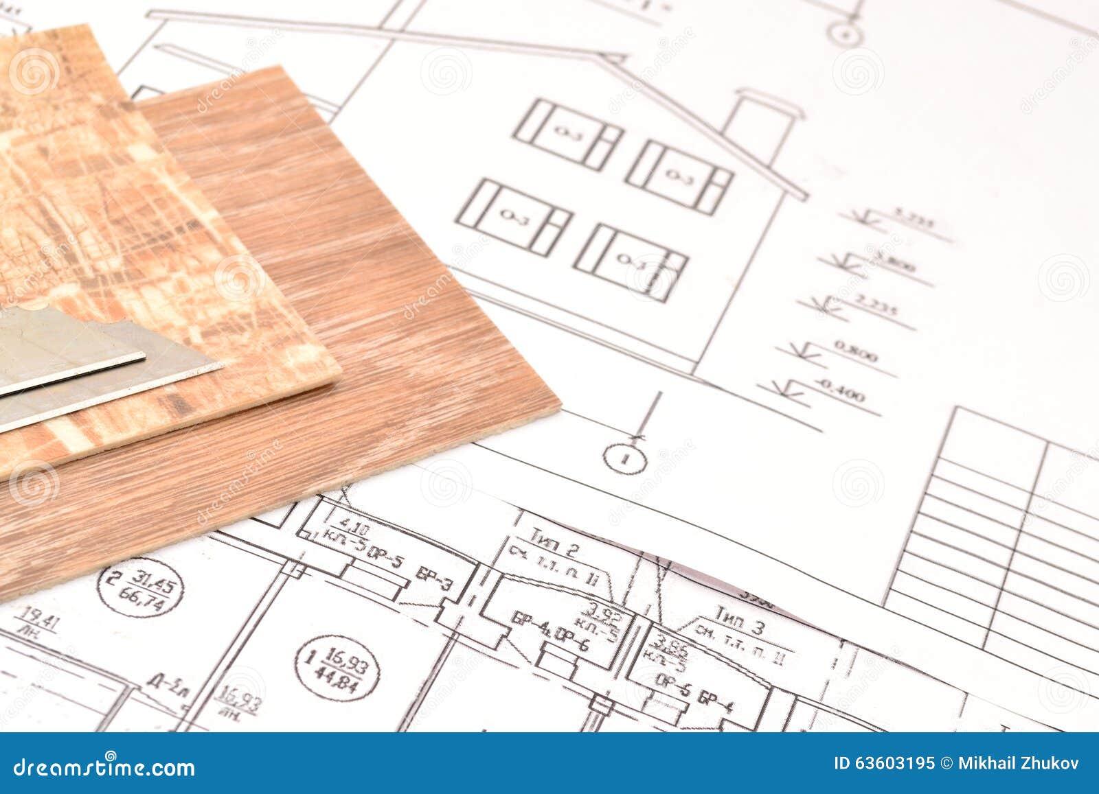 Linoleum Frooring Project Stock Photo Image 63603195