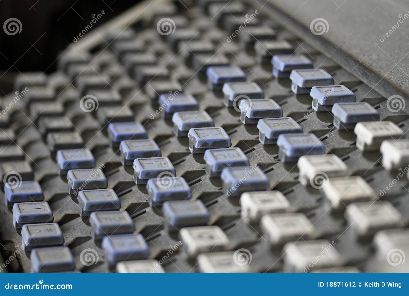 Linotype Keyboard stock photo  Image of mergenthaler - 18871612
