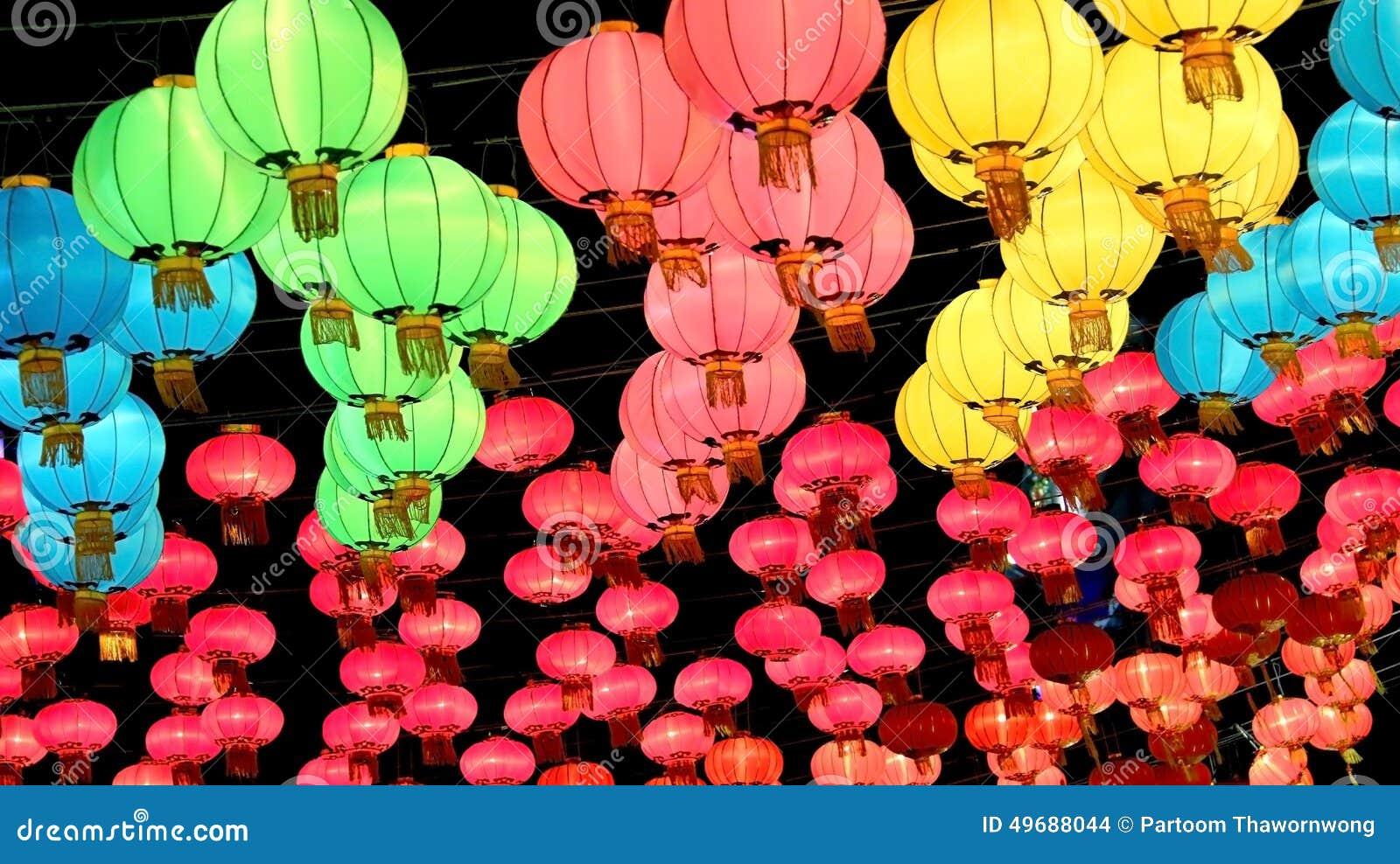 Linterna del Año Nuevo del chino tradicional