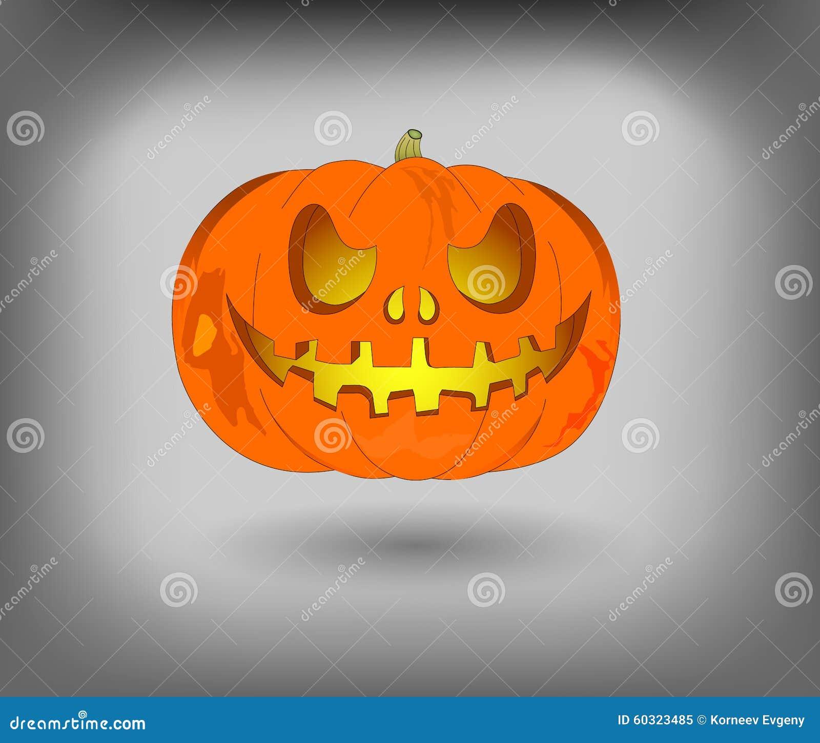 Linterna Jack Una Calabaza Para Halloween Uso Como Elemento Del