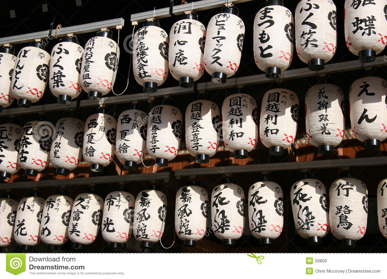 Linternas japonesas.