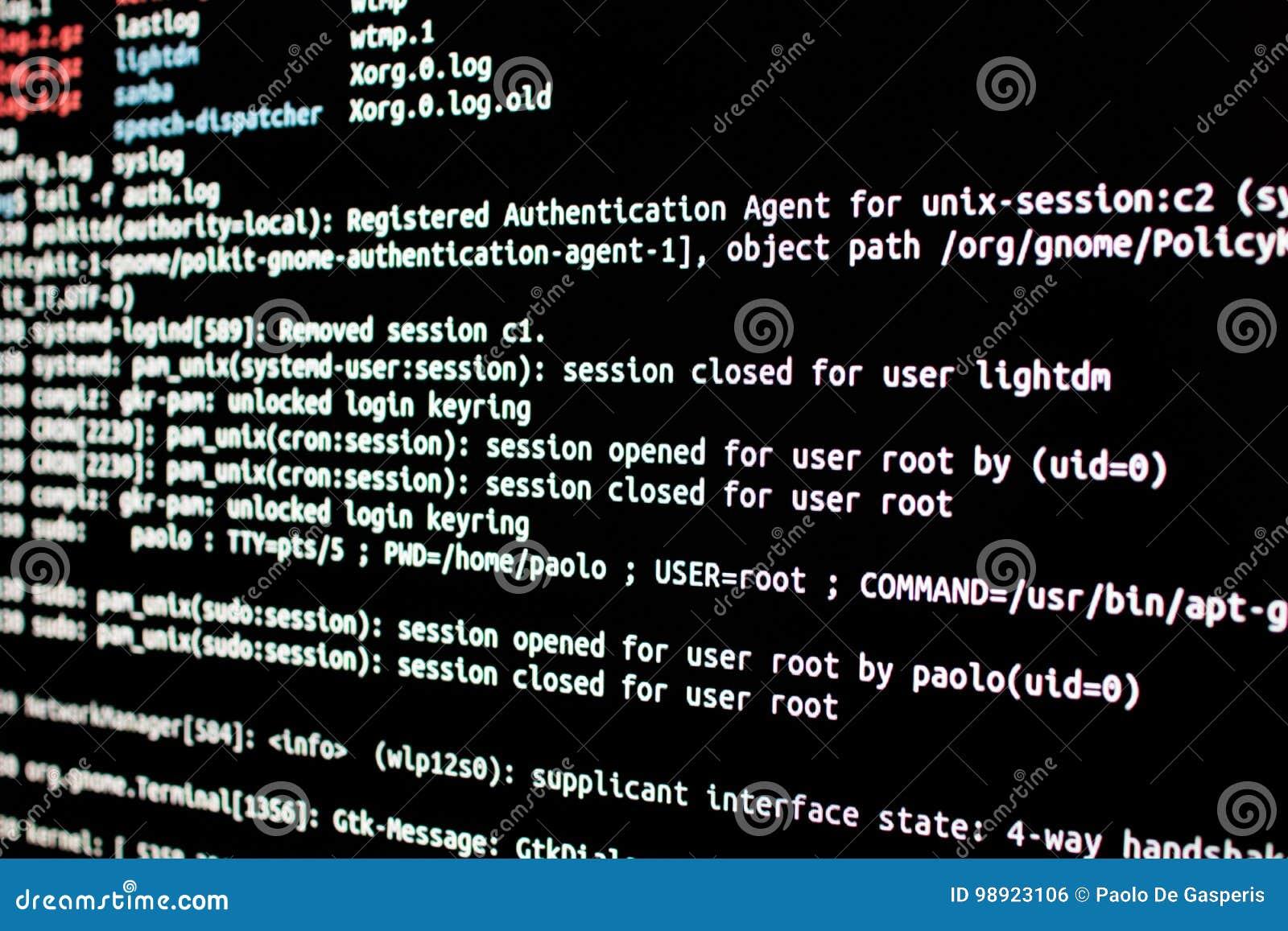 Linux serweru czek Analiza uwierzytelnień plik-dziennik w systemu operacyjnym