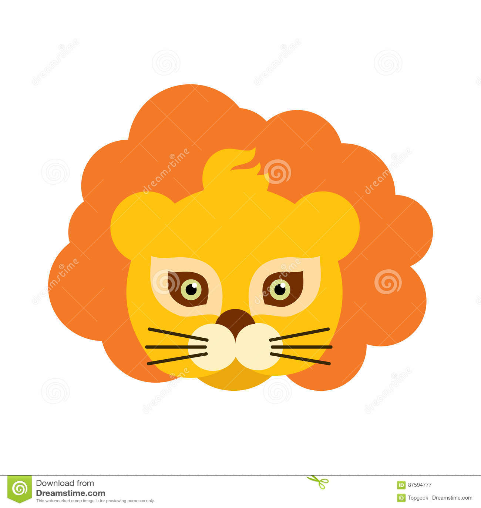 Lion Animal Carnival Mask Roi de bête orange