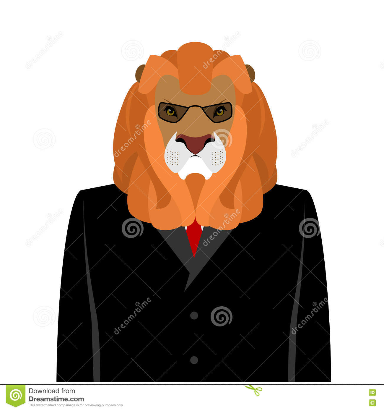 It's just a picture of Magic Lion In Suit Drawing