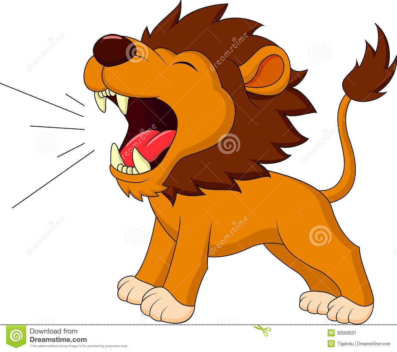 Lion Cartoon Roaring Illustration 30569031 - Megapixl for Angry Lion Animation  59nar