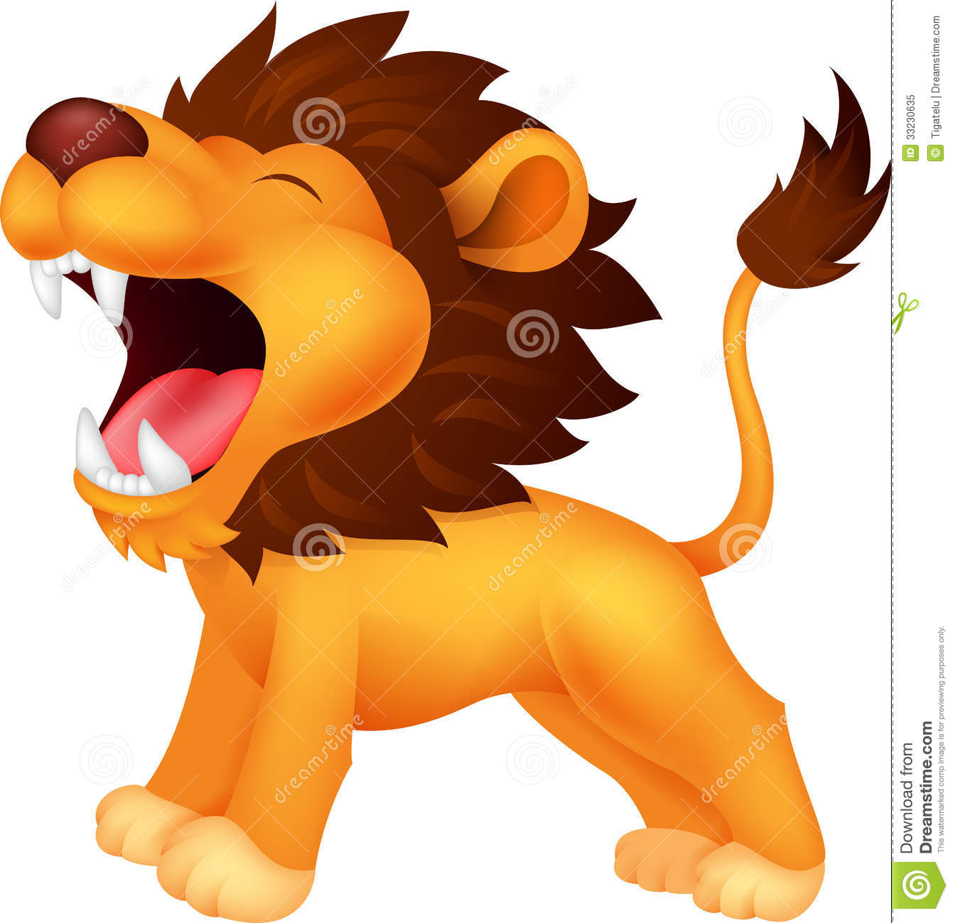 Lion Cartoon Roaring Stock Vector Illustration Of Crest