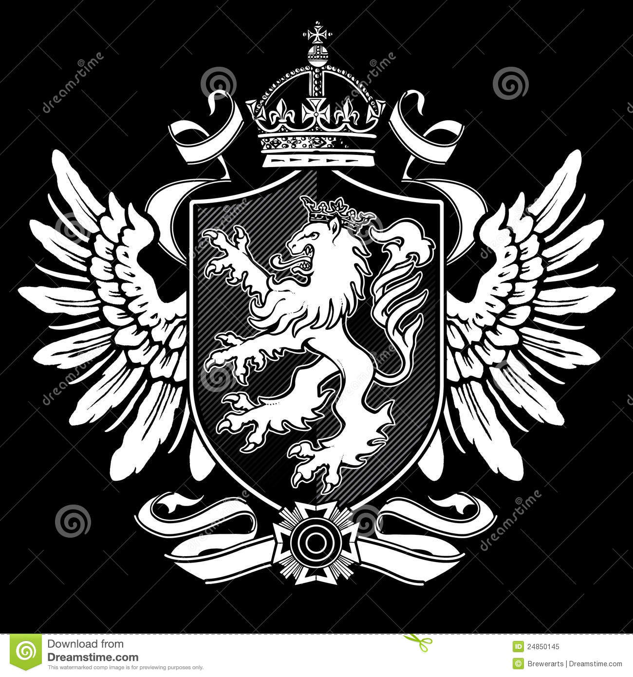 Lion Crest 2 Royalty Free Stock Photo - Image: 24850145