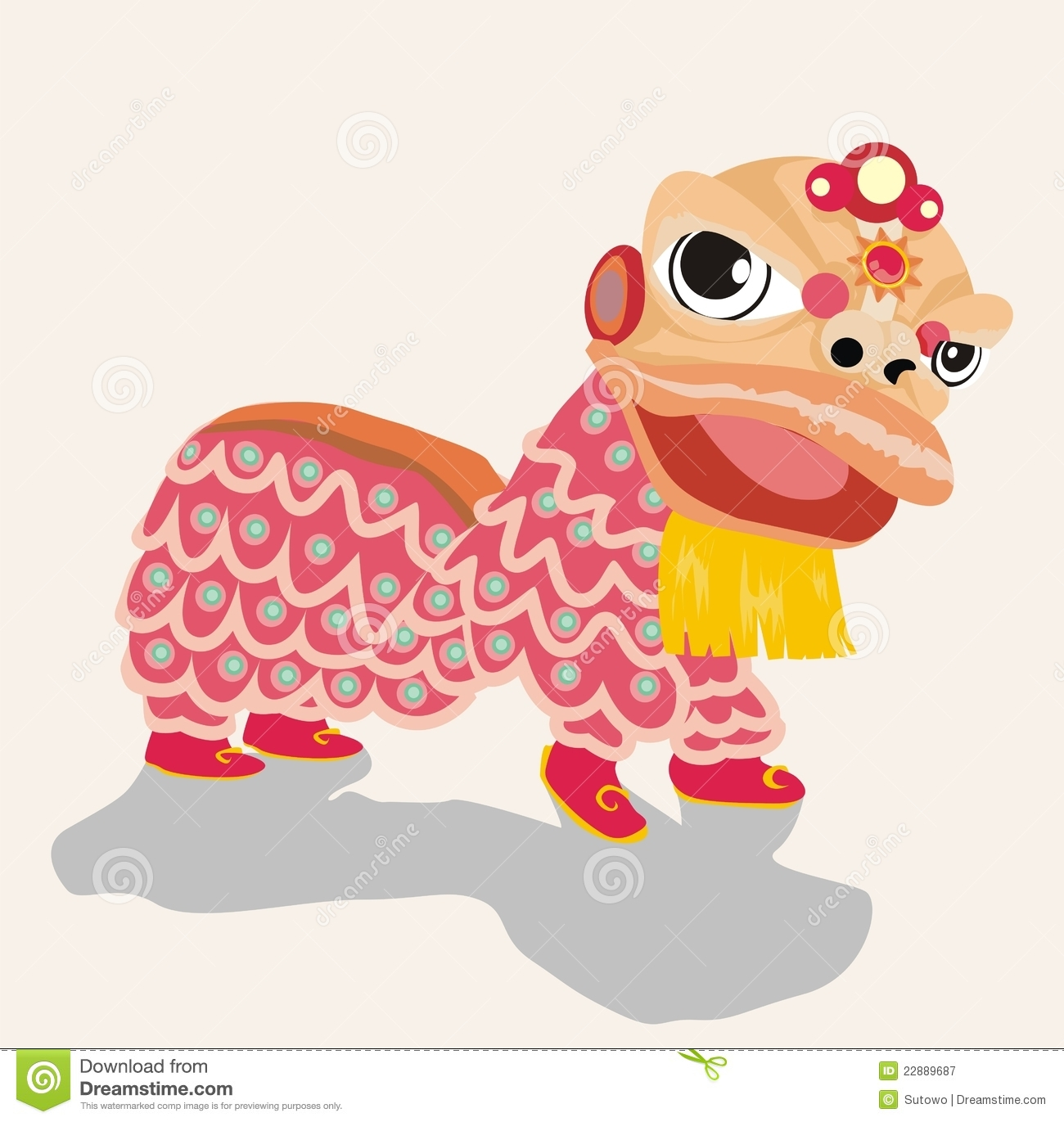 Lion Dance Royalty Free Stock Photography - Image: 22889687