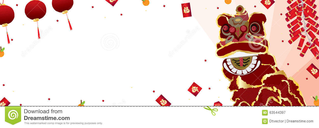 lion dance banner chinese new year illustration 63544397 megapixl