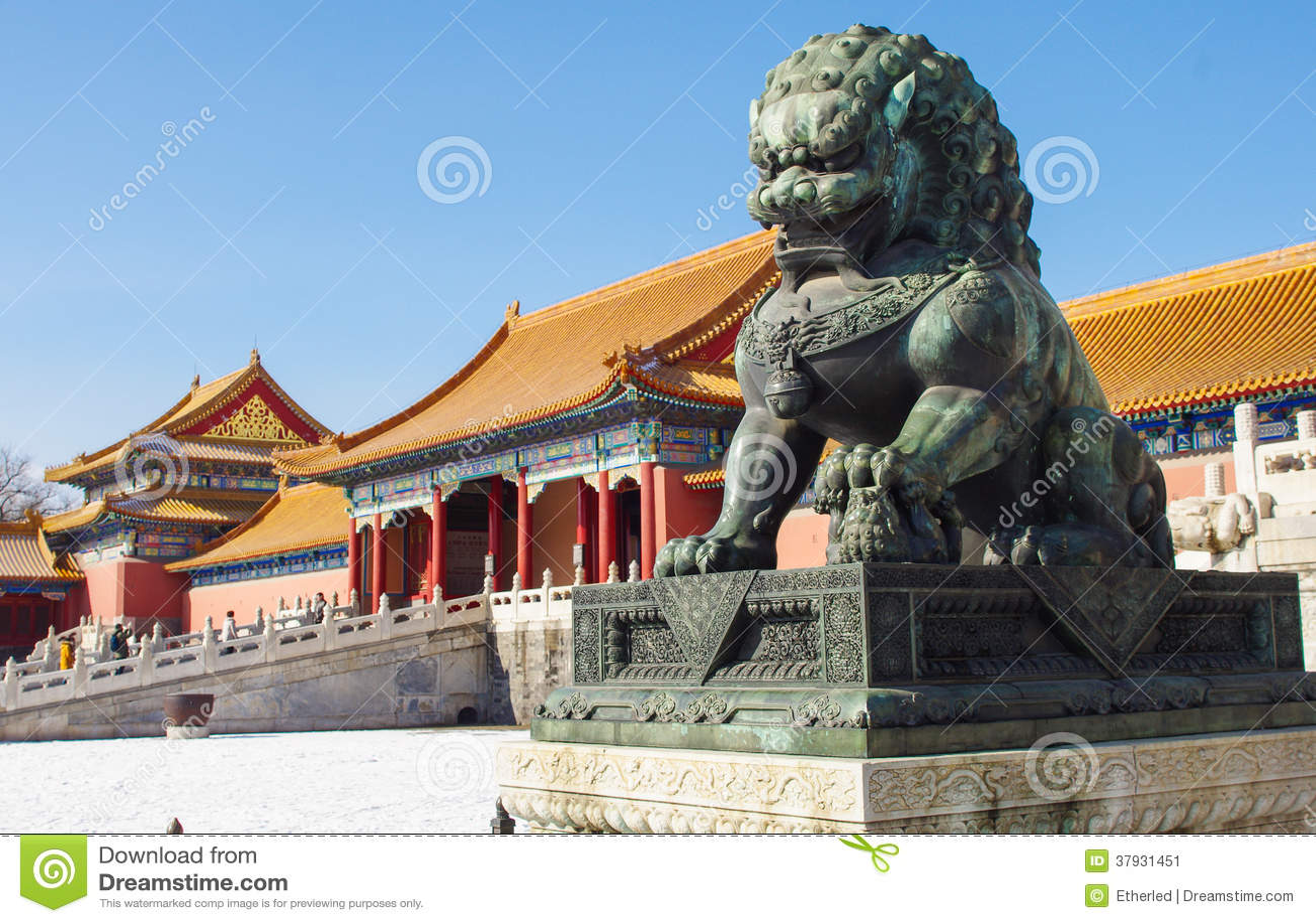 Lion en bronze