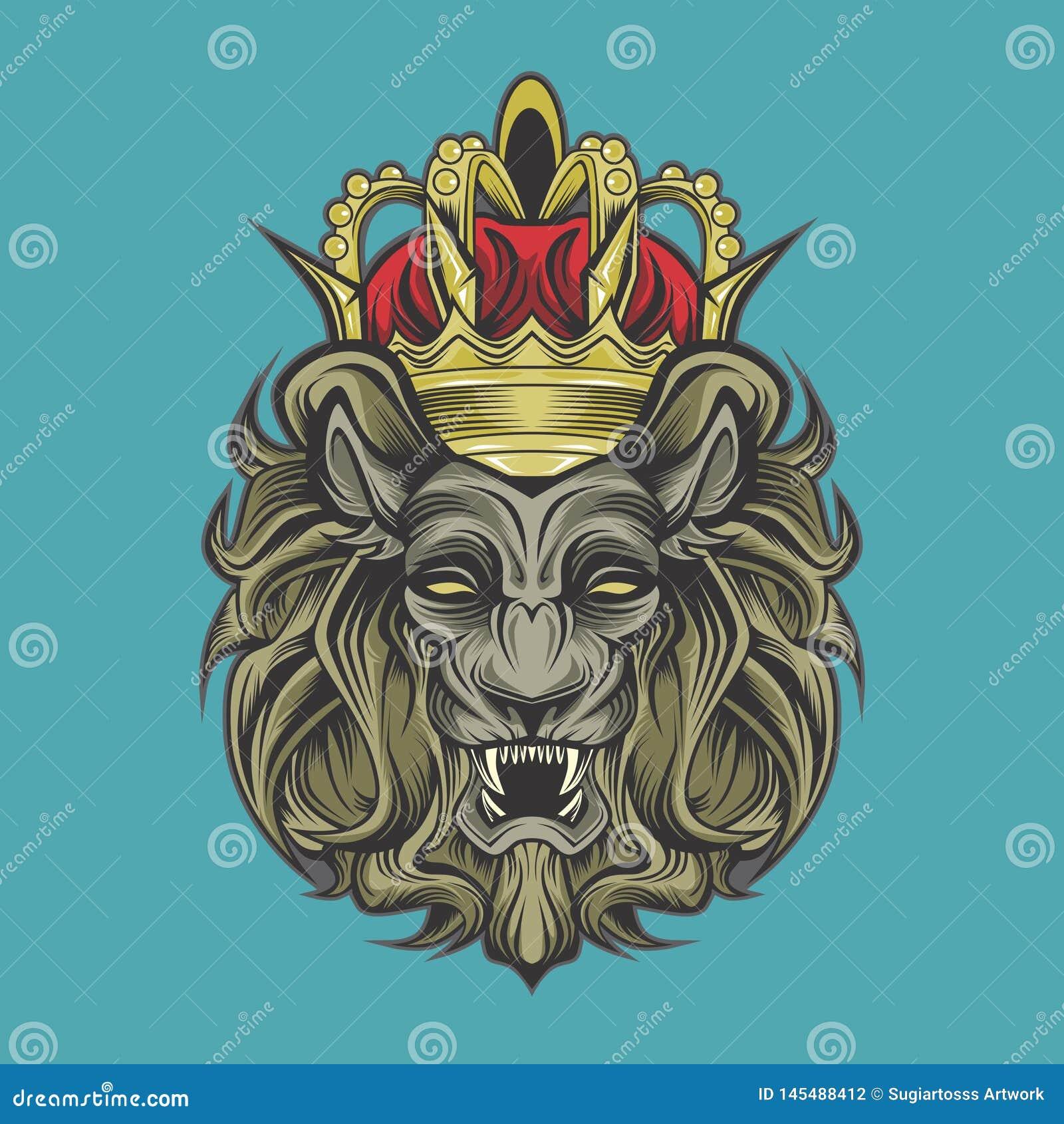 Lion et couronne